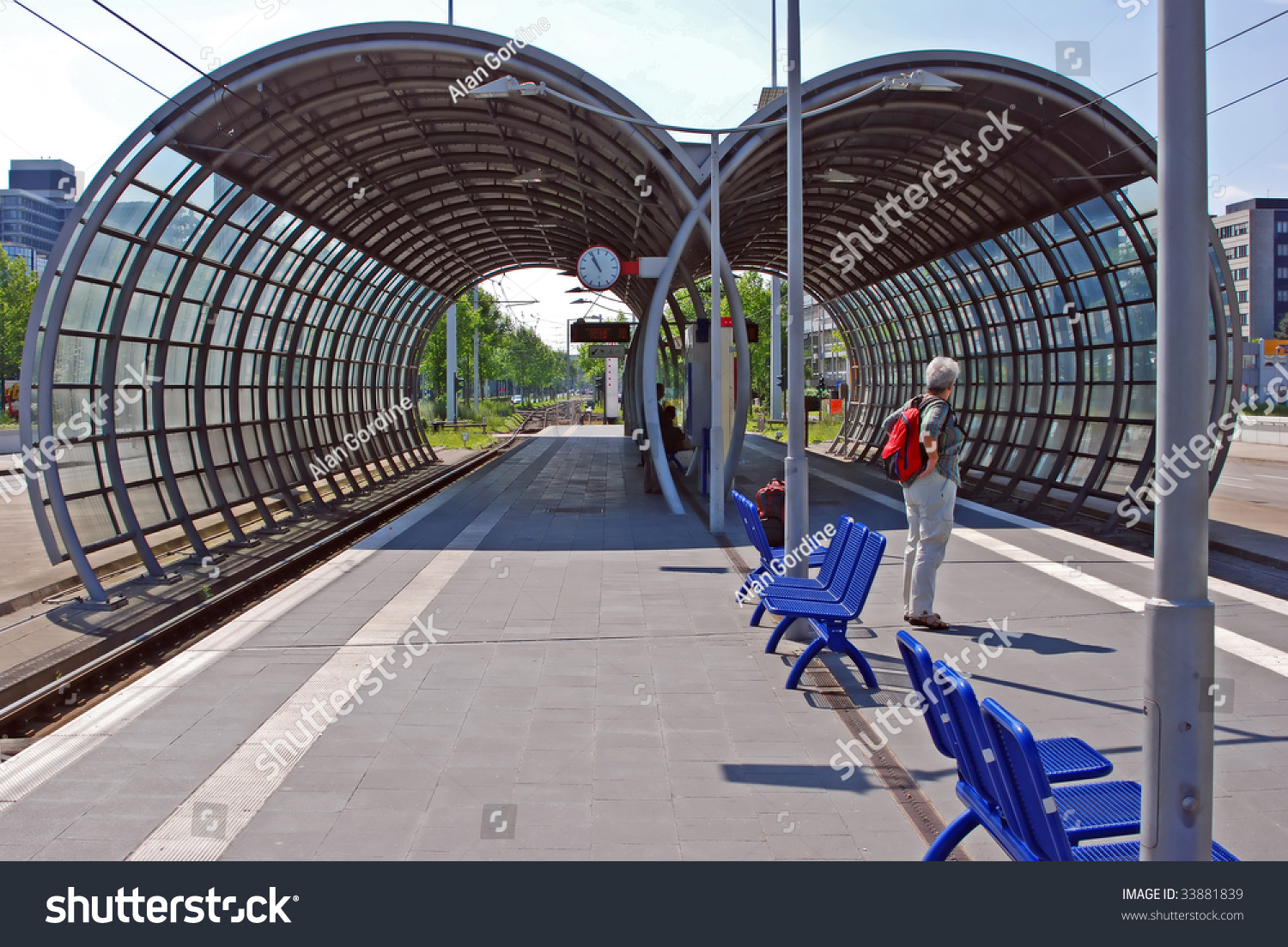 olafpalmeallee rapid rail station bonn germany stock photo 33881839 shutterstock. Black Bedroom Furniture Sets. Home Design Ideas