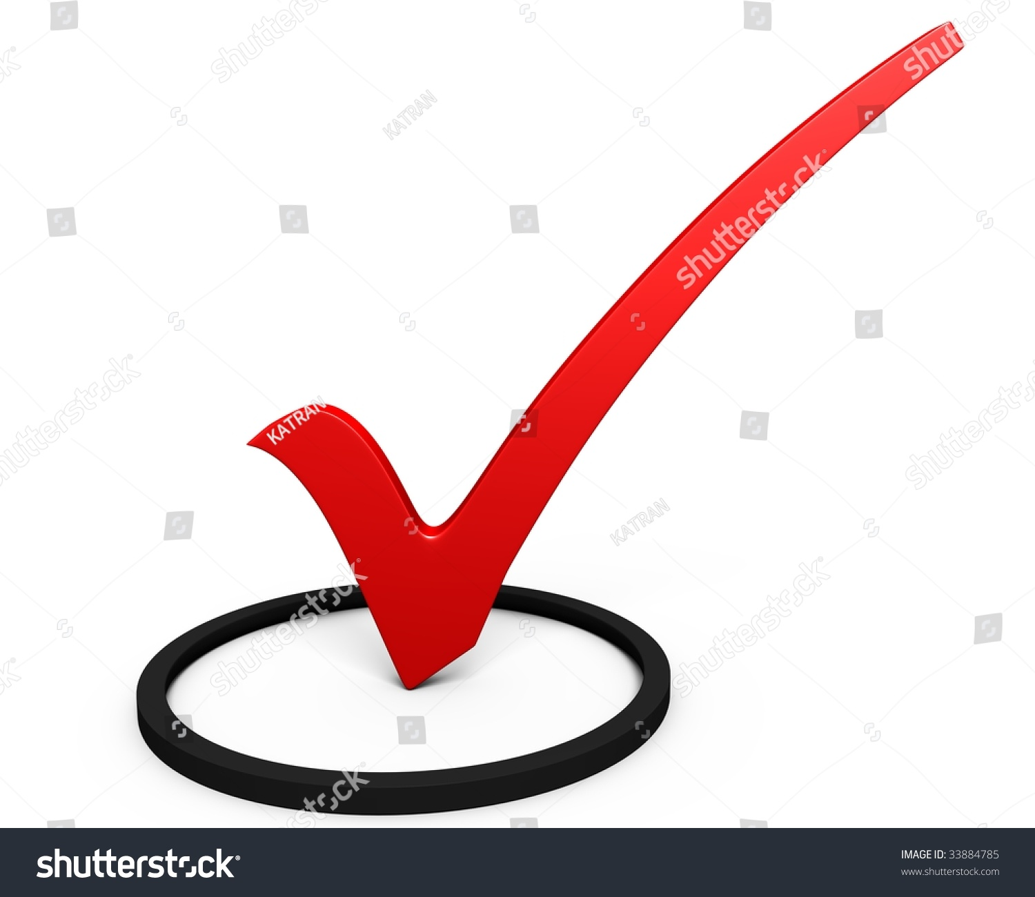 Red Symbol Check Mark On White Stock Illustration 33884785