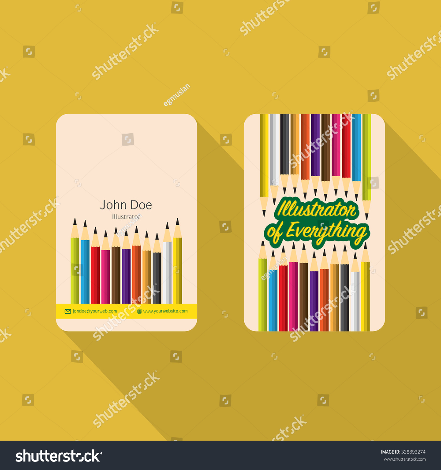Creative Vector Business Cards Illustrators Stock Vector 338893274 ...