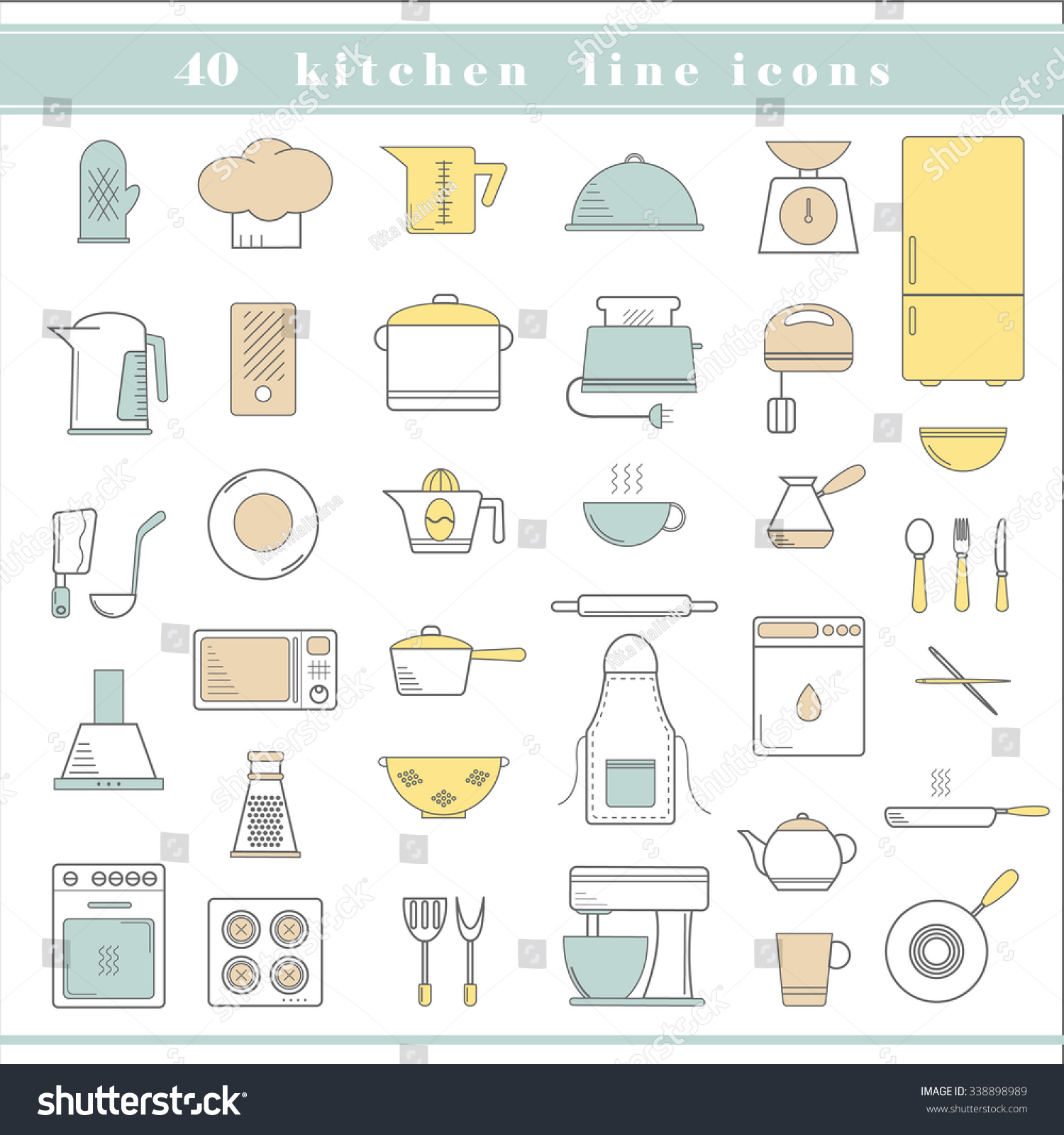 Restaurant Kitchen Accessories restaurant kitchen utensils seamless pattern with and stock vector