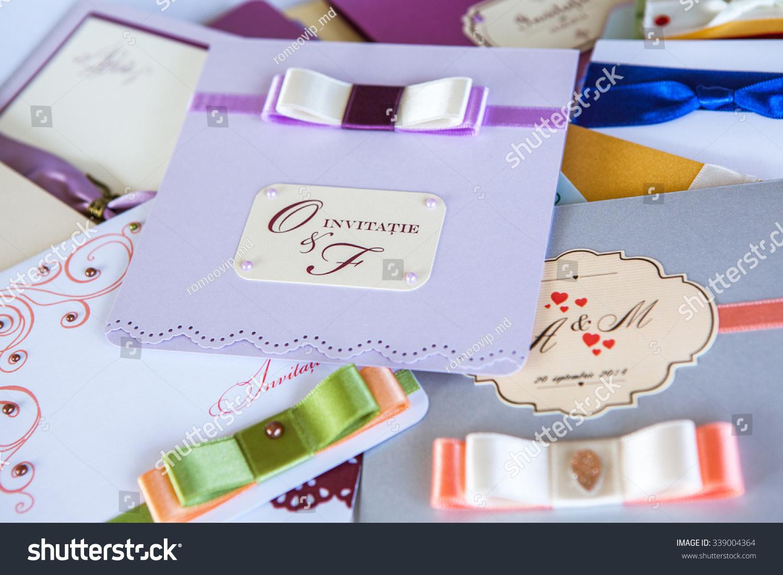 Wedding Invitation Card Handmade Wedding Invitation Stock Photo ...