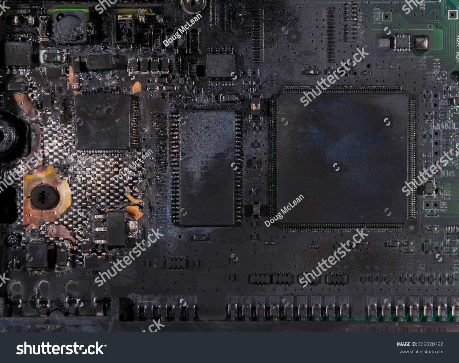 Charred Burnt Circuit Board Hard Drive Stock Photo Edit Now Assembly Buy Electronic Circuits Boardcircuit A It Is From That Suffered
