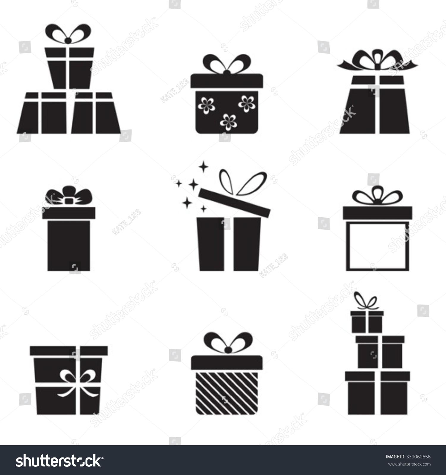Gift Boxes Vector Set Eps10 Non Stock Vector Royalty Free 339060656