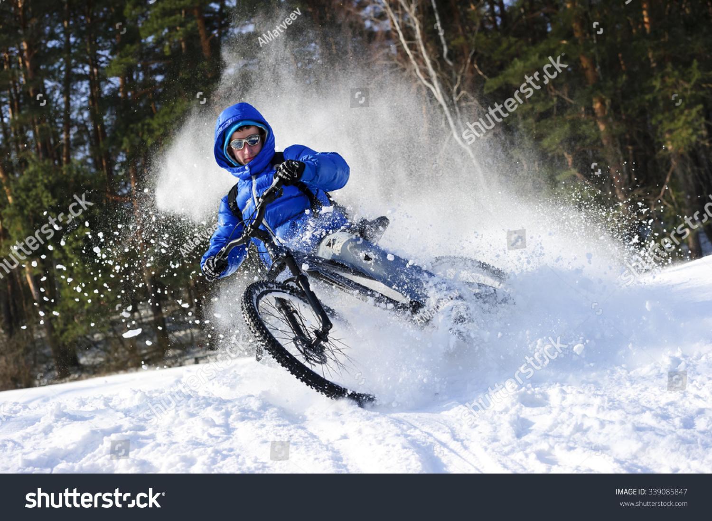 mountainbike snow winter extreme - photo #1