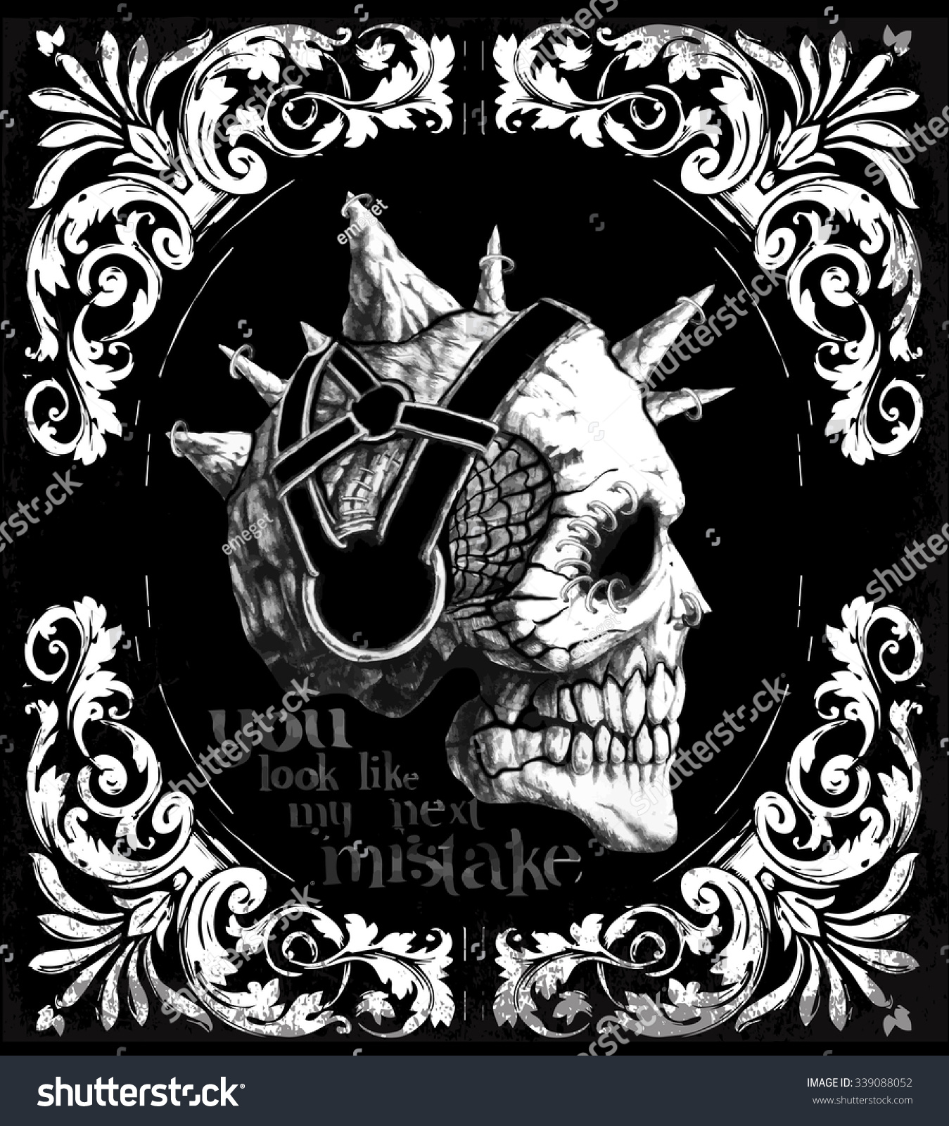 Design t shirt artwork - Design T Shirt Artwork Vintage Skull T Shirt Graphic Design