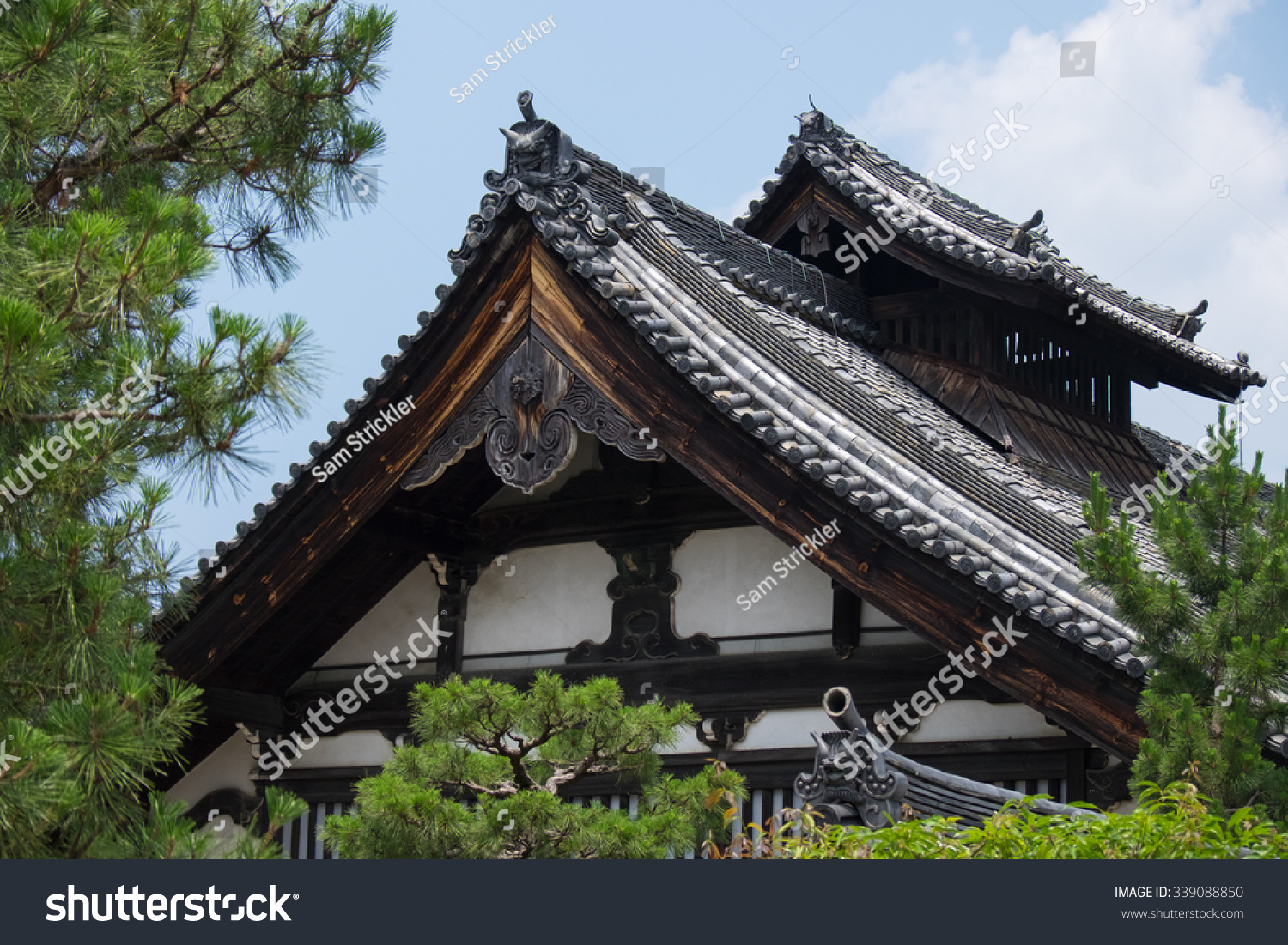 example ancient japanese temple architecture stock photo royalty