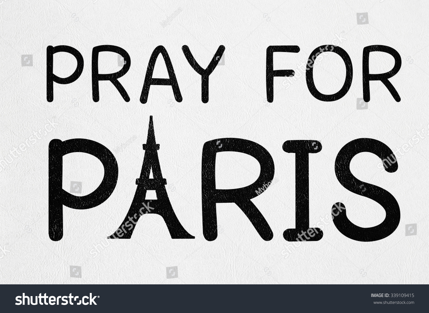 Pray Paris France Peace Symbol Drawing Stock Photo Edit Now