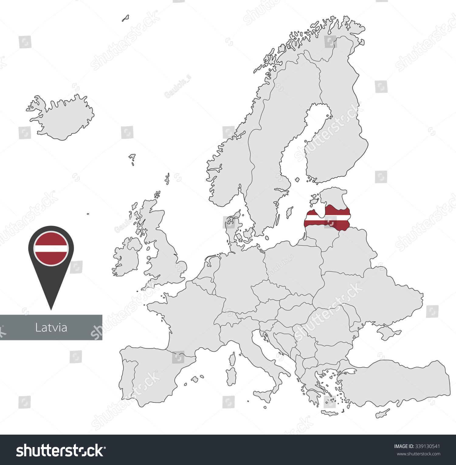 Picture of: Vector De Stock Libre De Regalias Sobre Map Latvia Official Flag Location Europe339130541