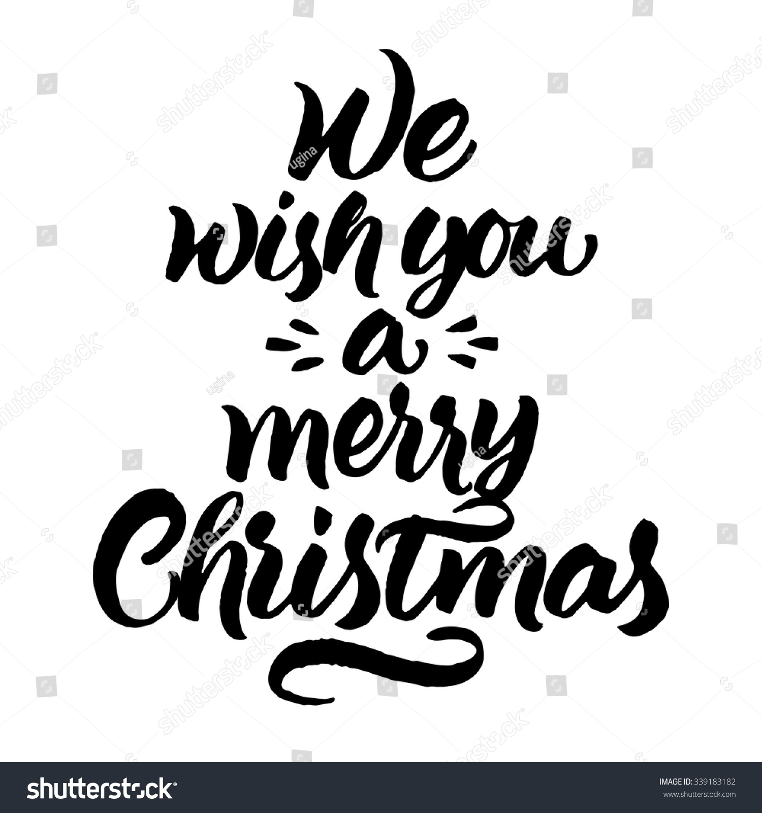 We Wish You Merry Christmas Hand Stock Vector (Royalty Free ...