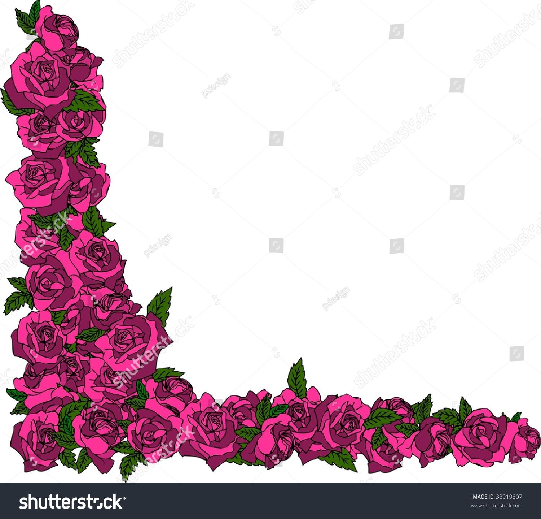Illustration Rose Frame Stock Illustration 33919807 - Shutterstock