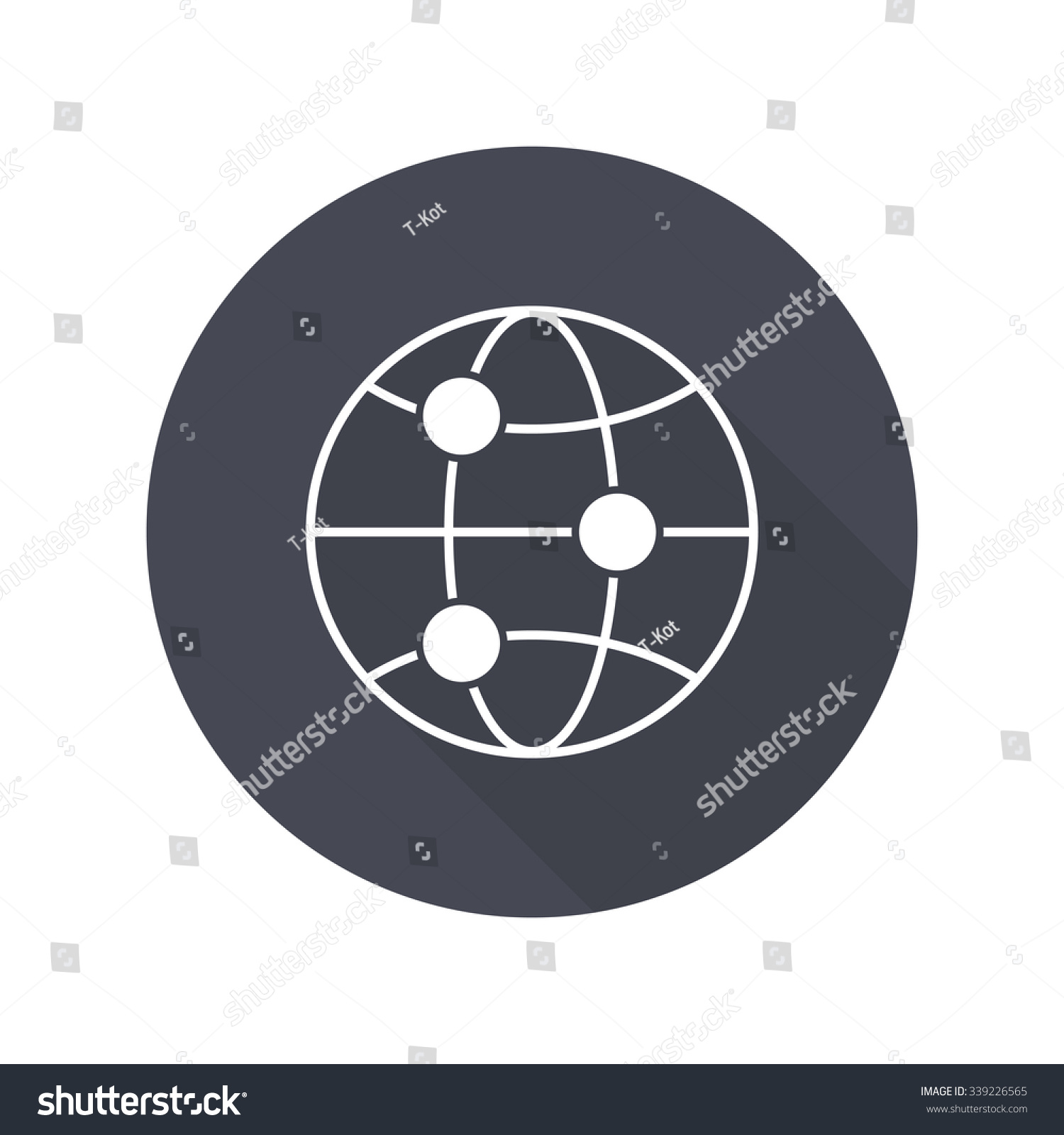 Global Connect Icon Stock Vector (2018) 339226565 - Shutterstock