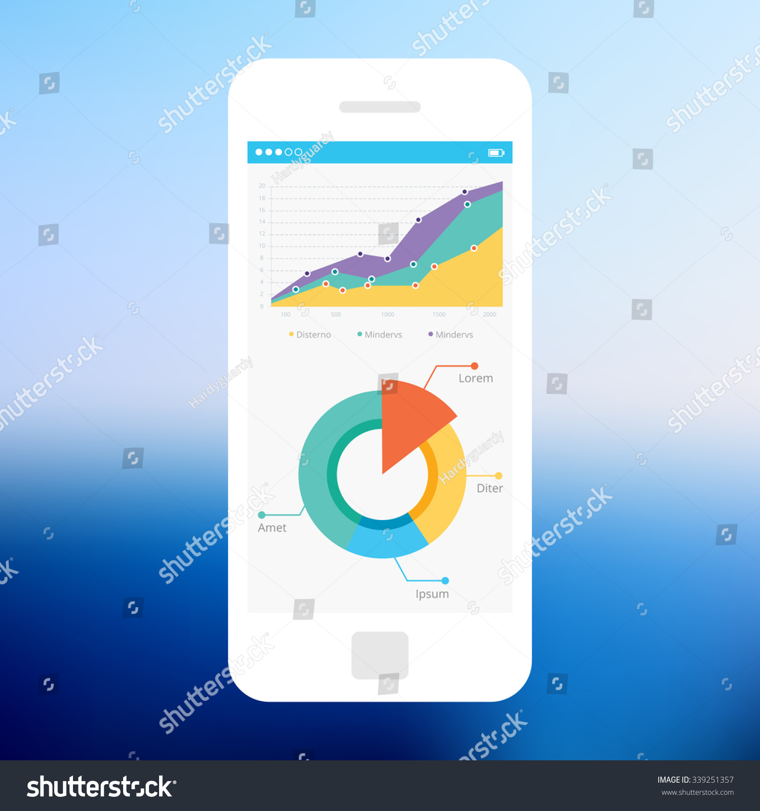 Mobile app single screen ui kit stock vector royalty free mobile app single screen ui kit statistics dashboard piechart information screen ccuart Gallery