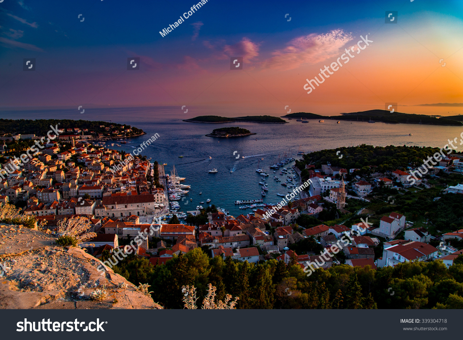 Sunset at Hvar Croatia