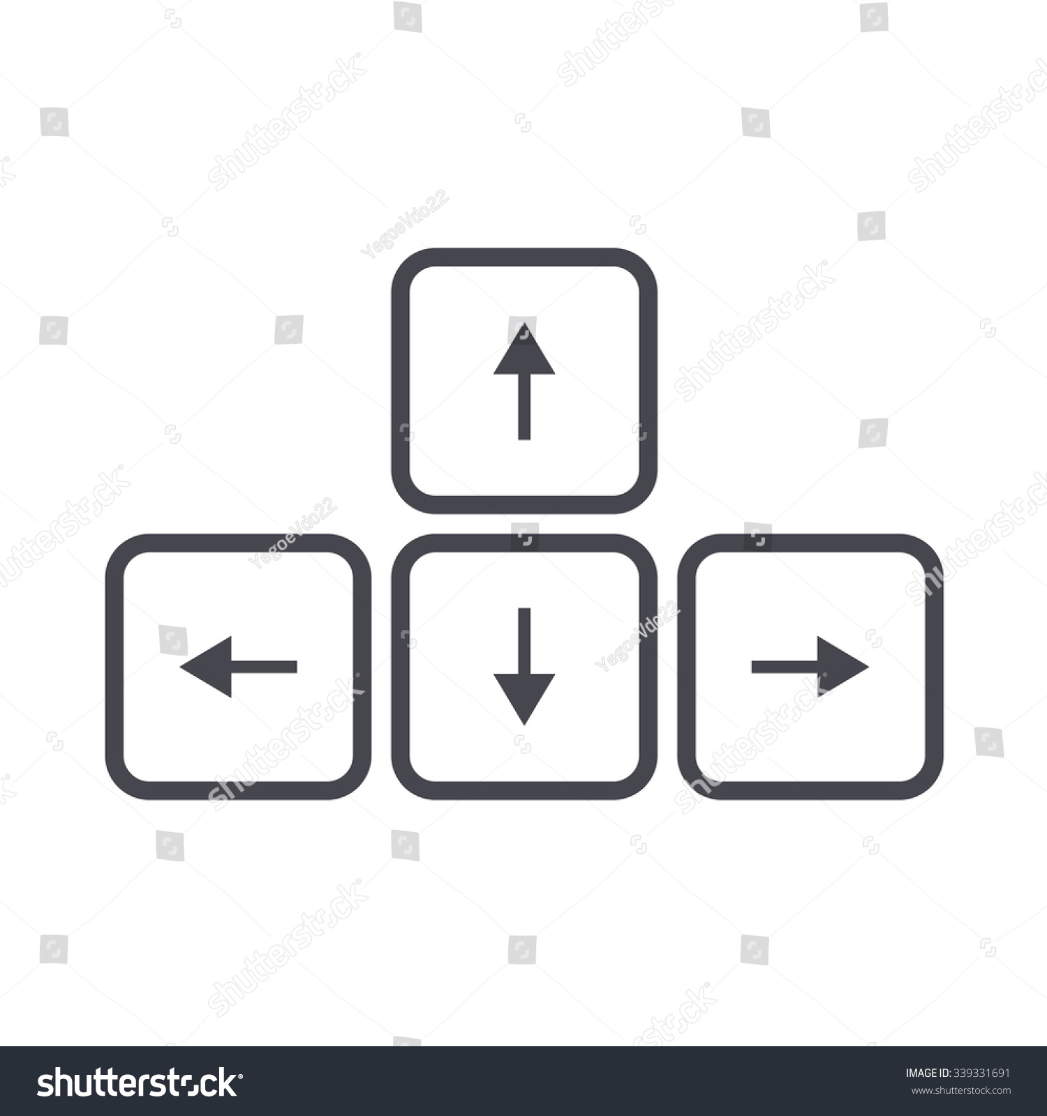 Arrow button on keyboard icon stock vector 339331691 shutterstock arrow button on keyboard icon biocorpaavc Choice Image