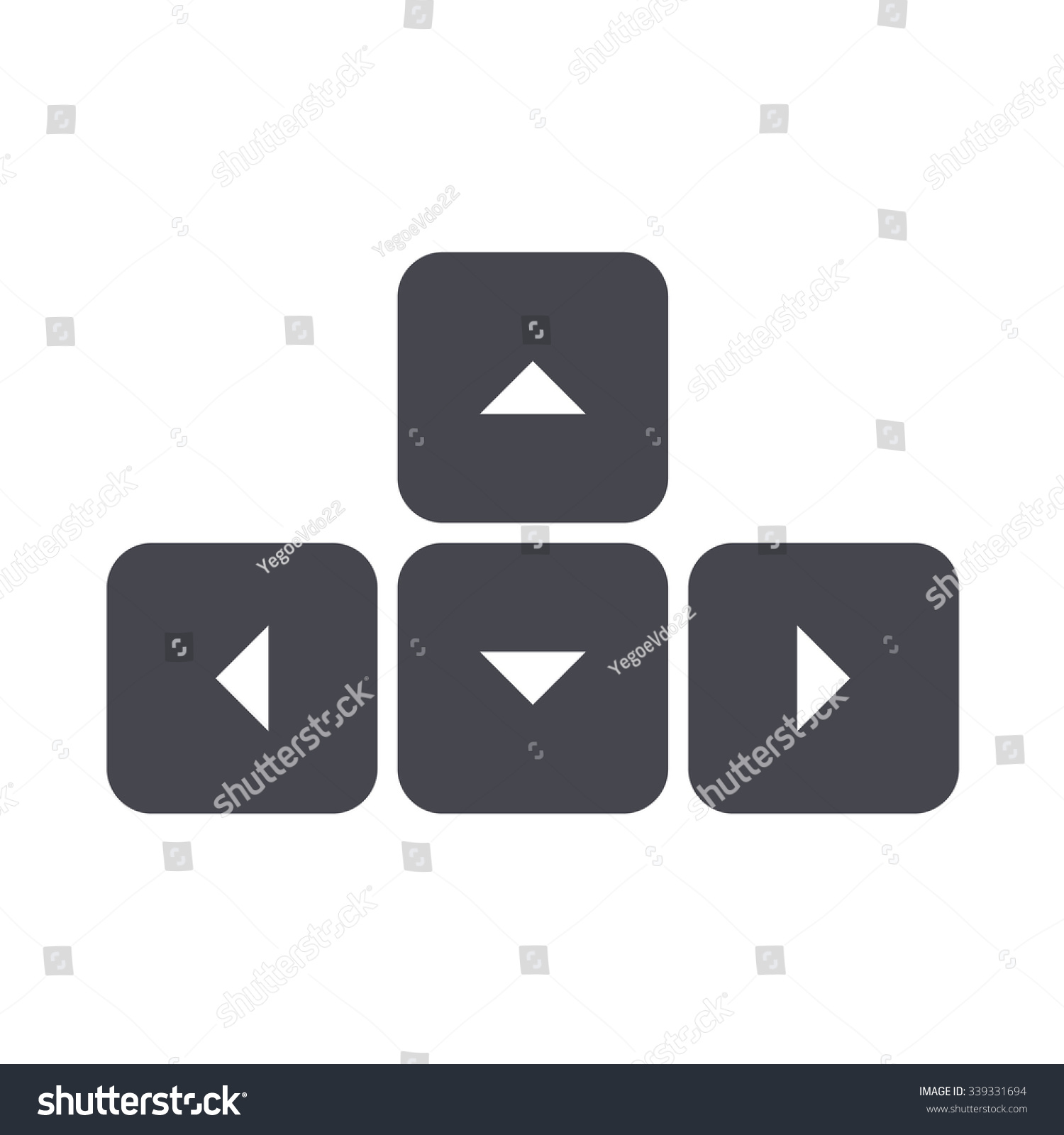 Arrow Button On Keyboard Icon Stock Vector Royalty Free 339331694