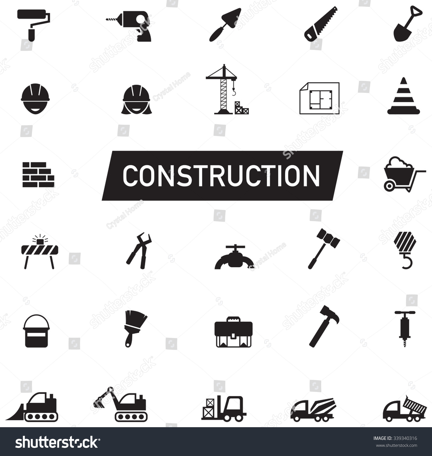 ... constructio... Construction Sign Silhouette