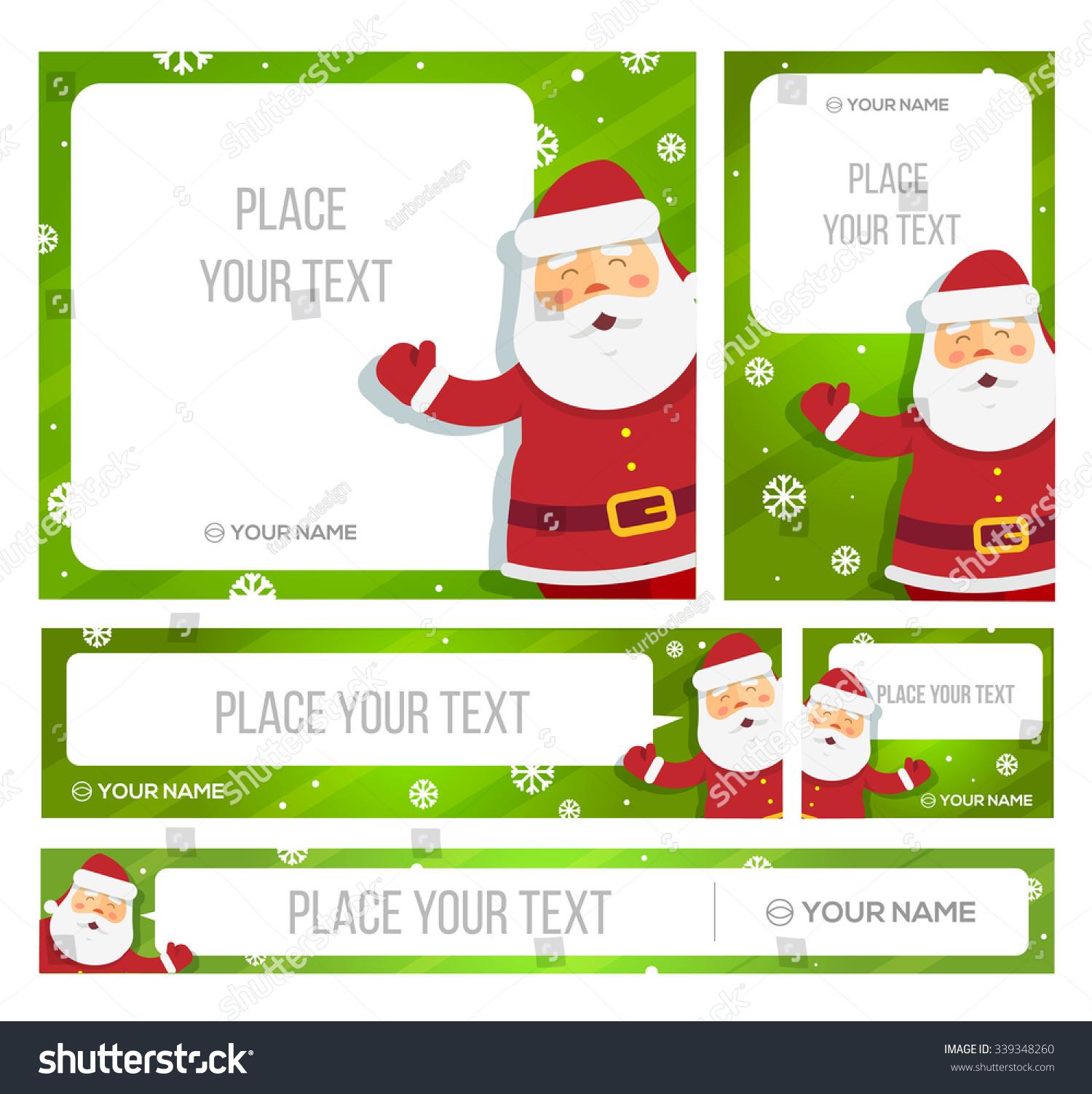 Santa Claus Hold Banner Christmas Greetings Stock Vector 339348260 ...