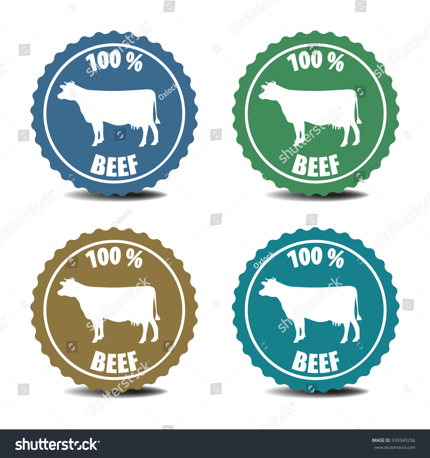 Set four isolated stickers cow symbol stock vector 339349256 set four isolated stickers cow symbol stock vector 339349256 shutterstock buycottarizona