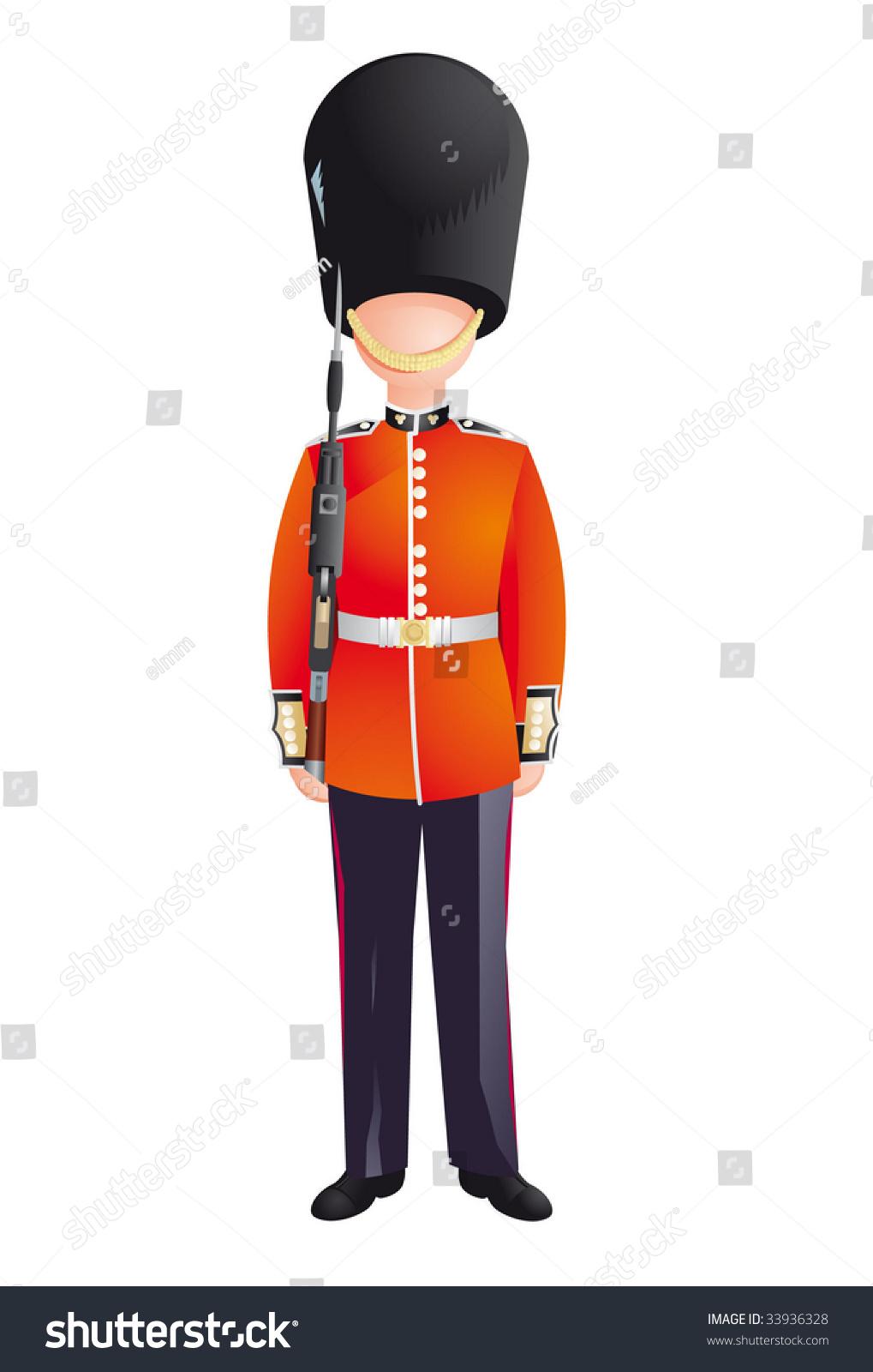 Queens Guard British Army Soldiers London Stock-Vektorgrafik ...