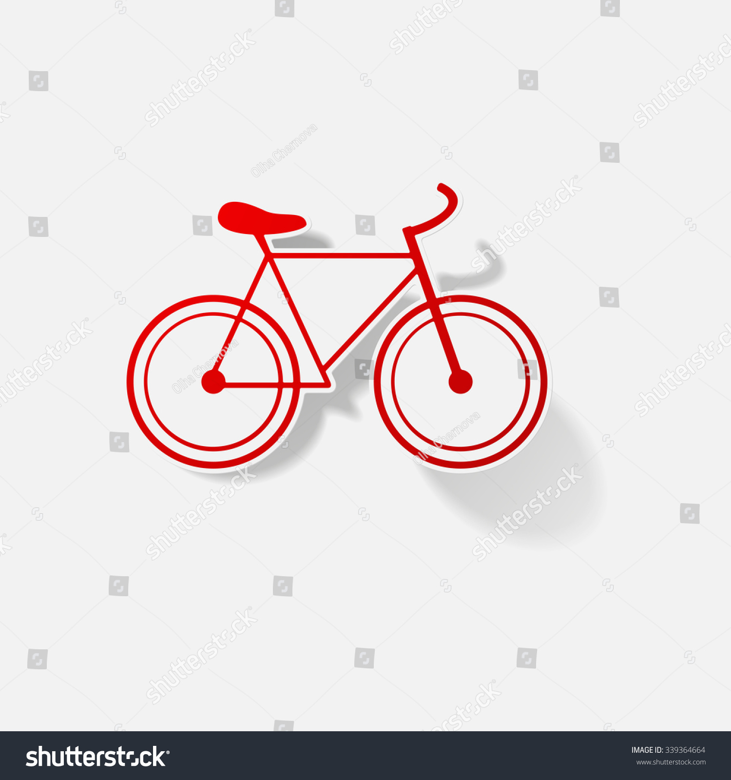 Sticker paper products realistic element design illustration bike