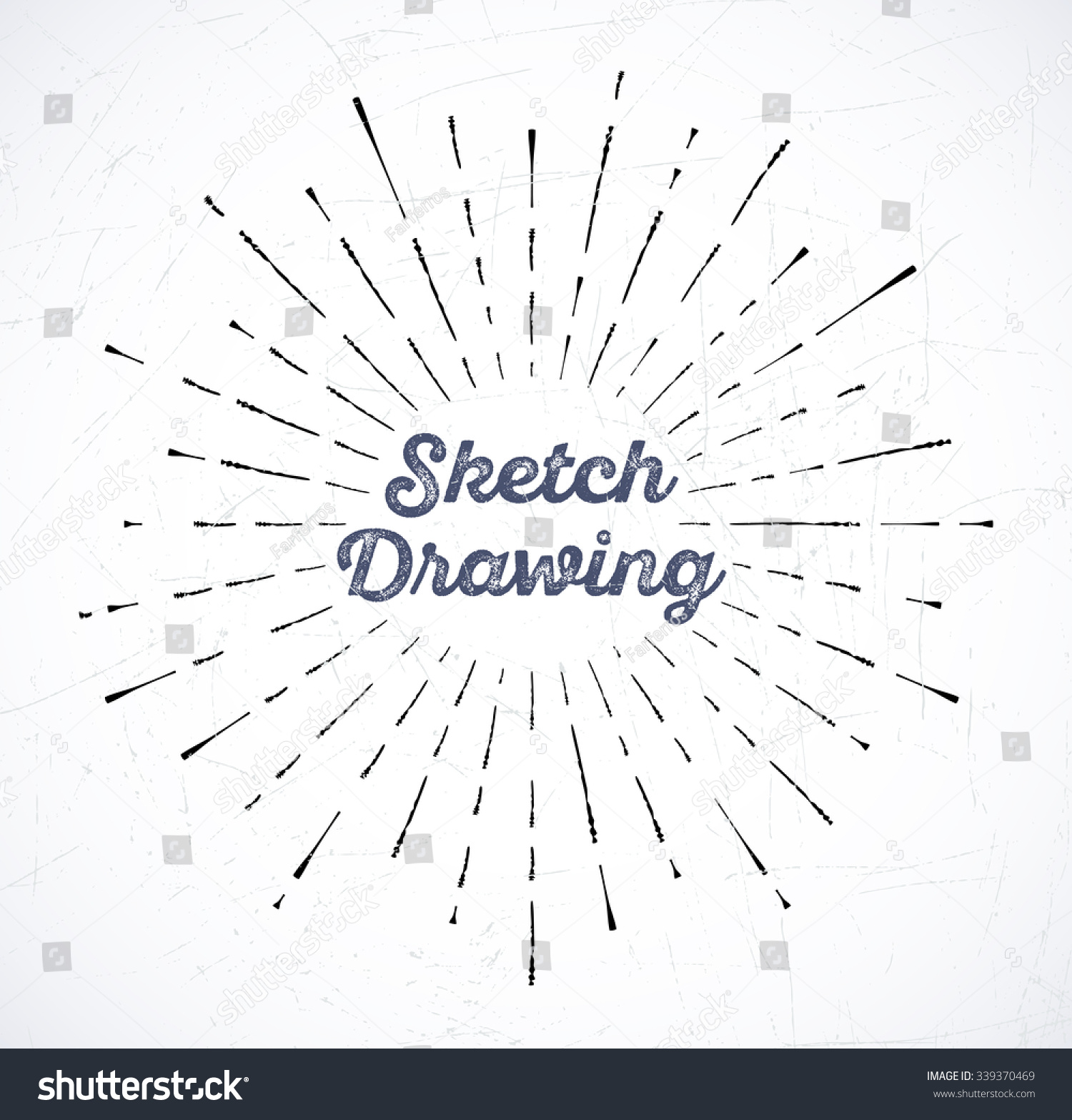 Vector Illustration Light Rays Burst Sketch Stock Vector 339370469 ... for Vector Light Rays Vintage  35fsj