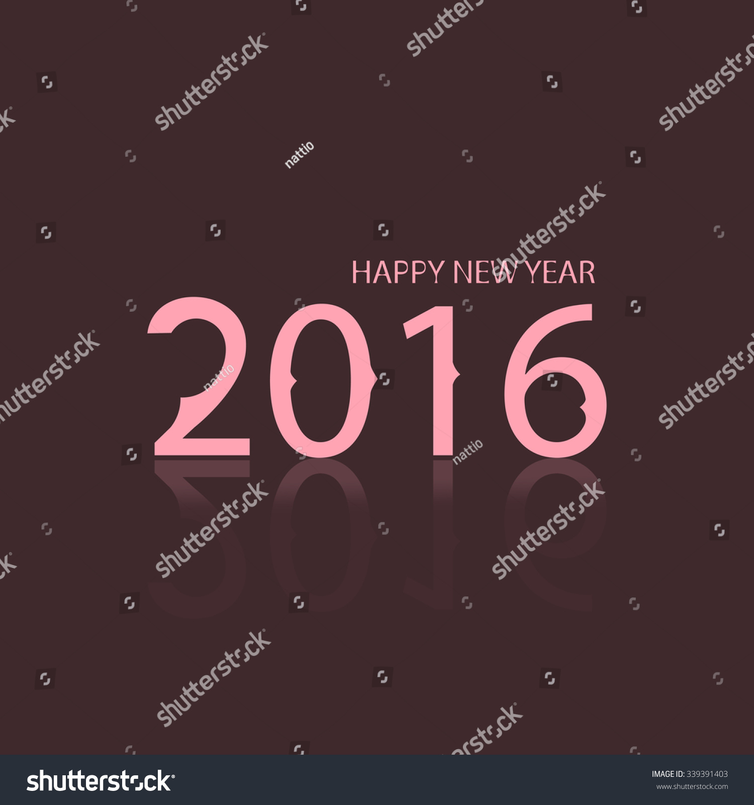 Happy New Year 2016, Beautiful Simple Greeting Card Stock ...