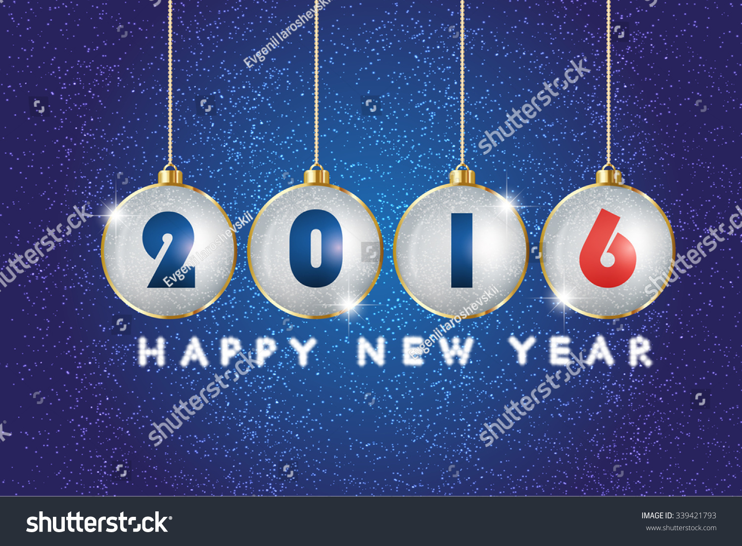 Greeting Message Text Happy New Year Stock Vector Royalty Free