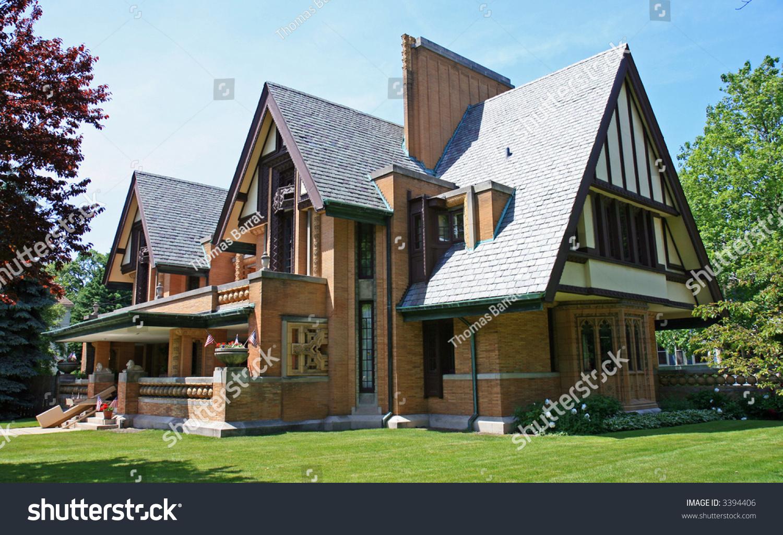 Frank Lloyd Wright Designed House Oak Stock Photo 3394406 Shutterstock