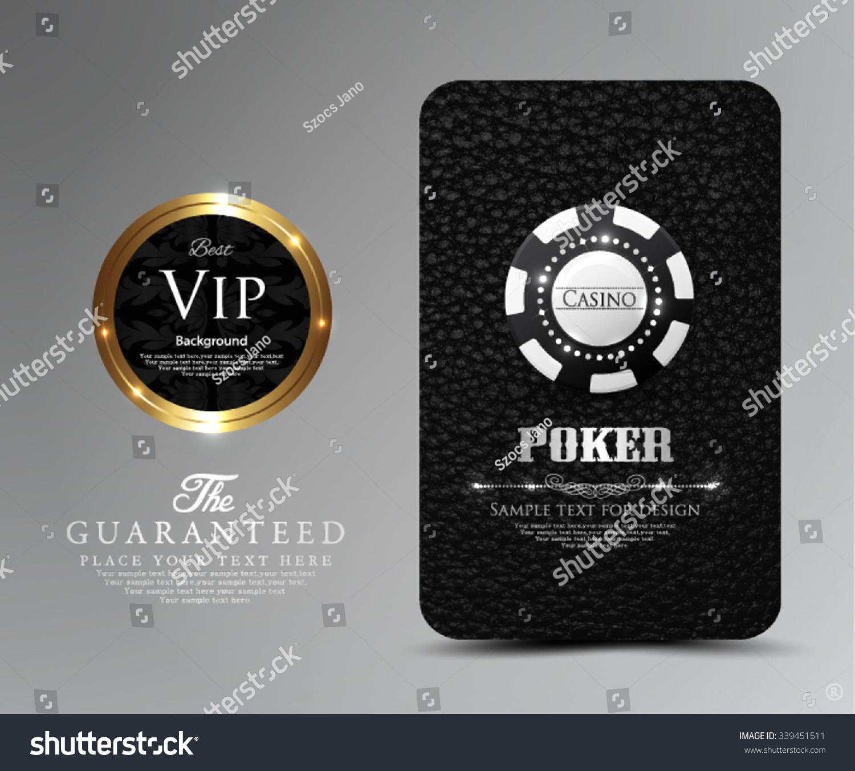 Vip Card Designcasinopoker Stock Vector Royalty Free 339451511
