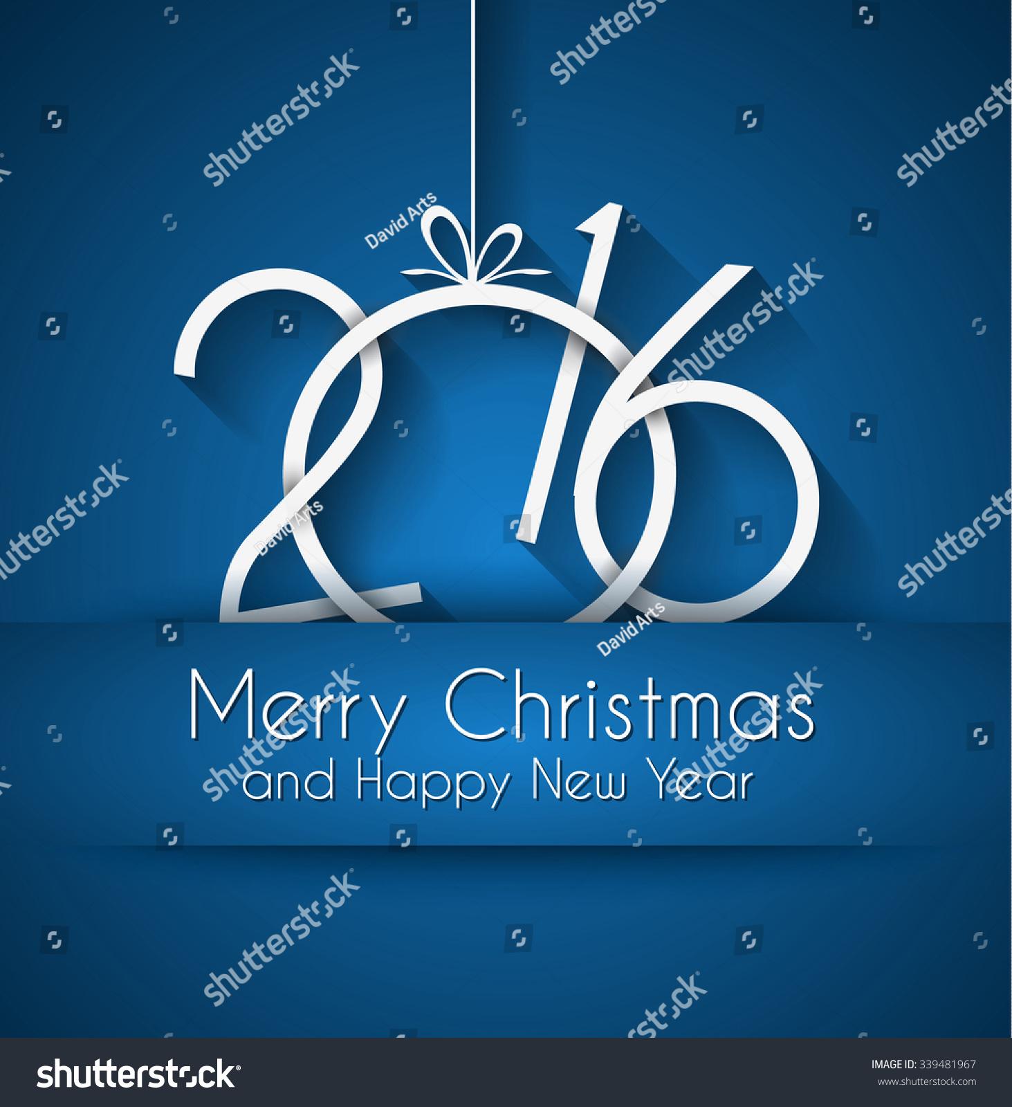 2016 Happy New Year Merry Christmas 339481967
