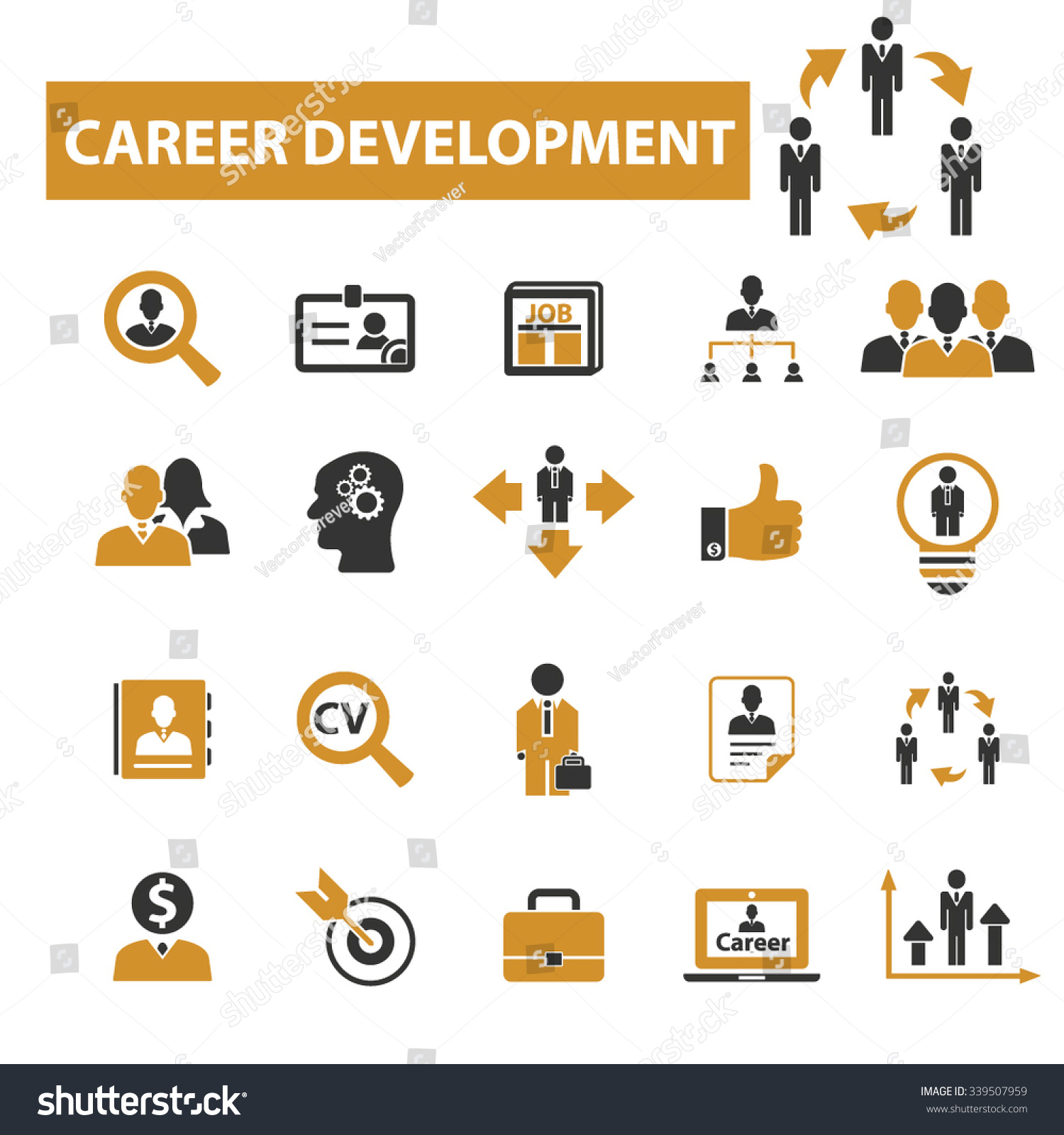 career development icons signs vector concept set for career development icons signs vector concept set for infographics mobile website application 339507959 shutterstock