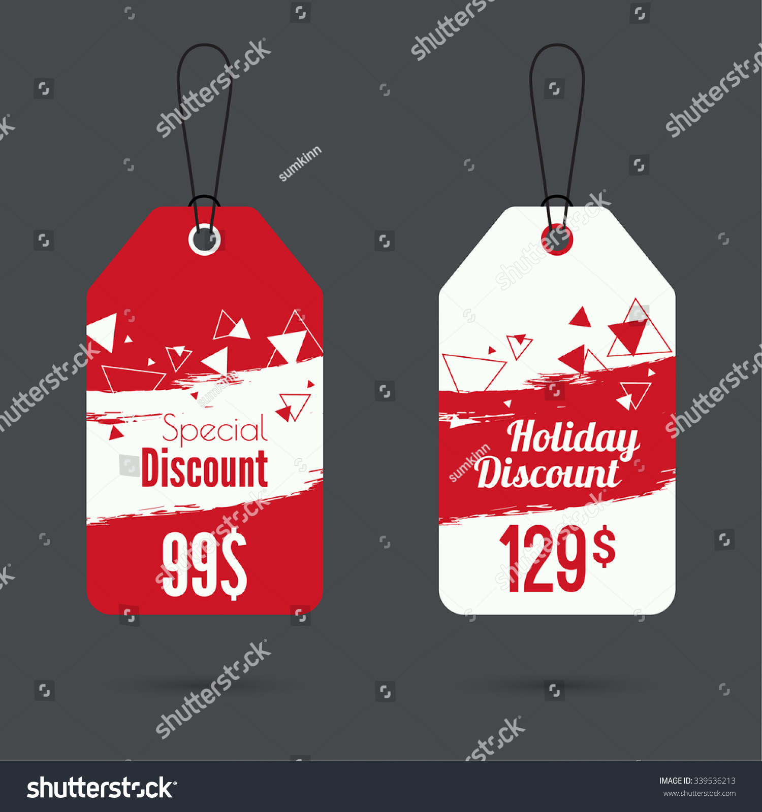 Set Price Tag Smear Watercolor Painting Stock Vector 339536213  - Christmas Tree Discounts