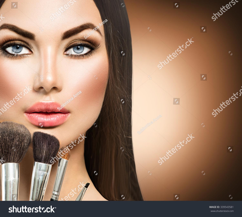 beauty girl face make - photo #14