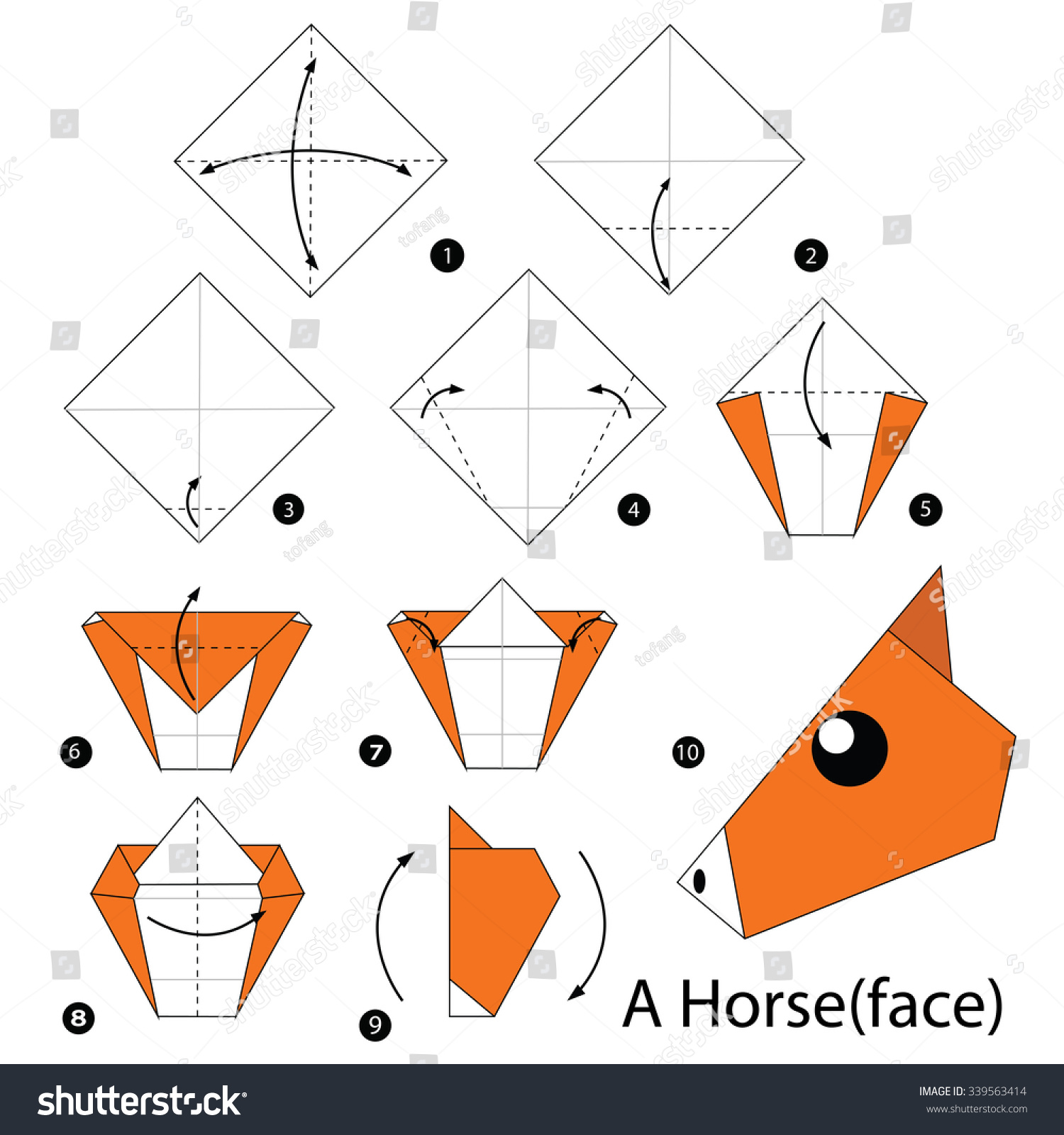 How To Make An Origami Horse - YouTube | 1600x1500