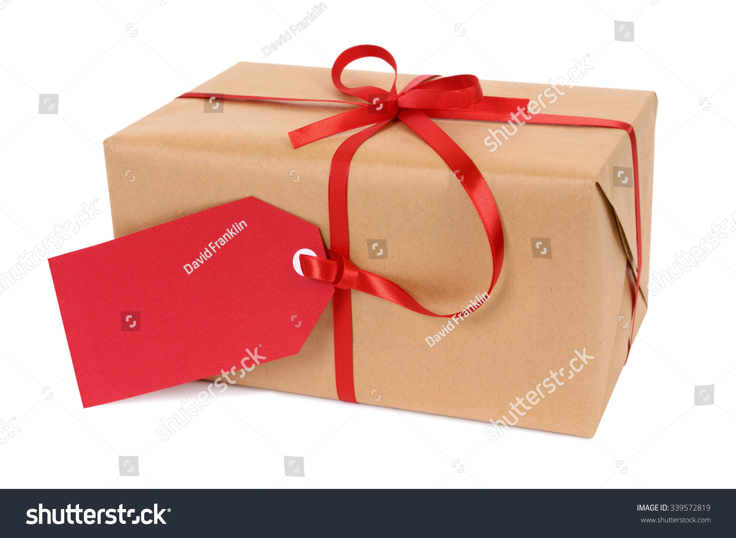 Small Christmas Gift Parcel Red Gift Stock Photo (Edit Now ...