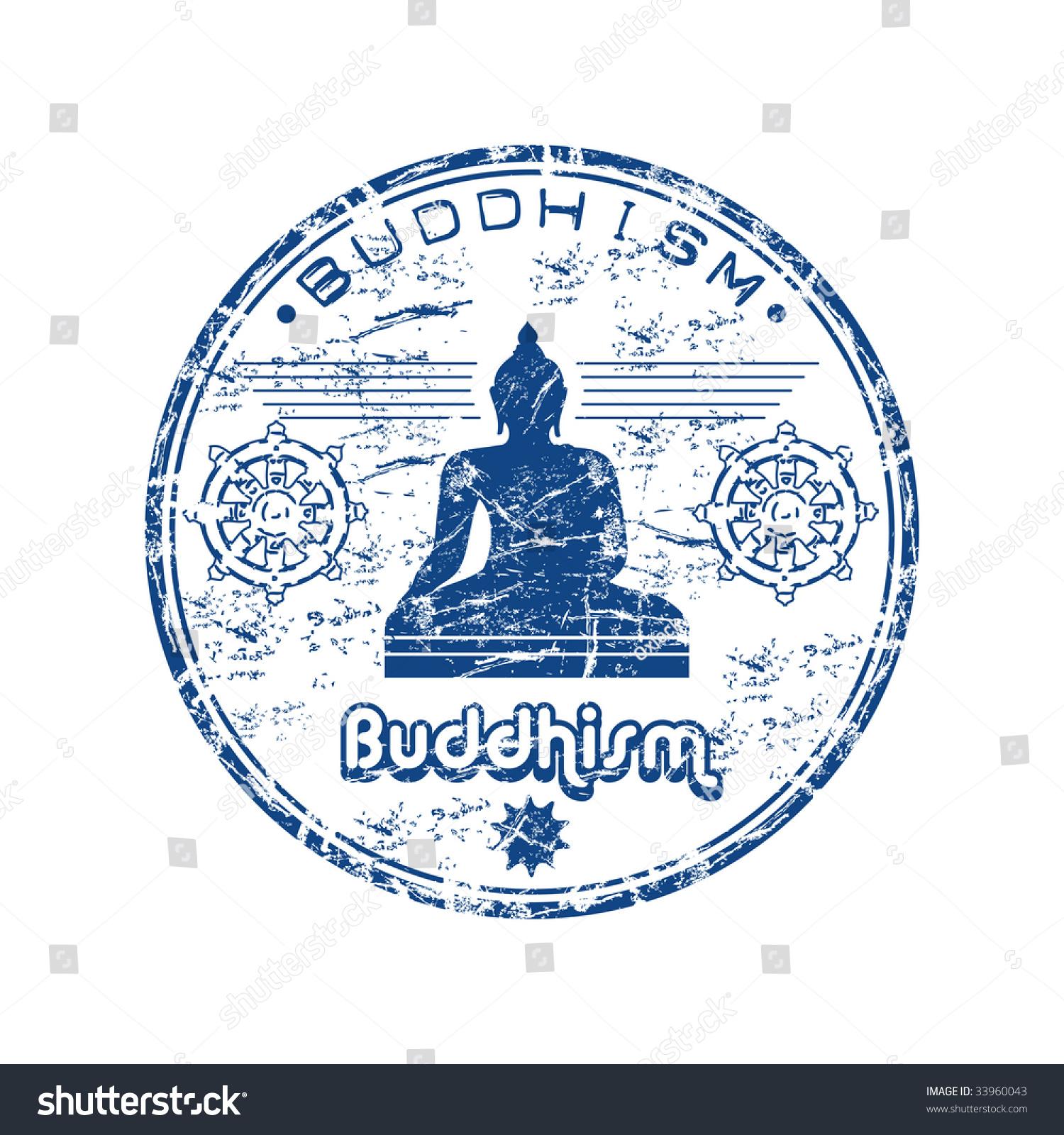 Blue grunge rubber stamp silhouette buddha stock vector 33960043 blue grunge rubber stamp with the silhouette of buddha and buddhist symbols buddhism concept biocorpaavc Images