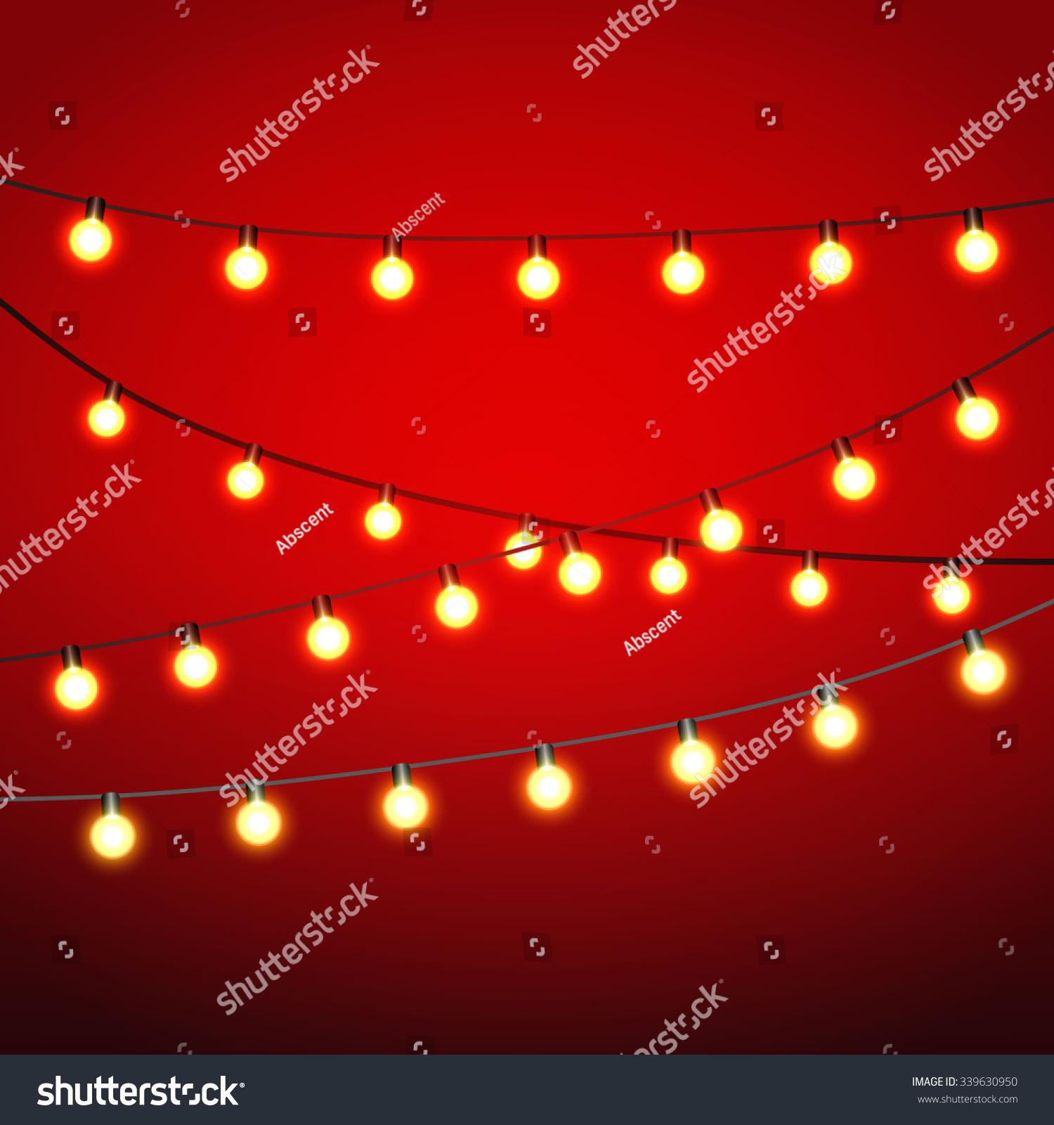 Warm Yellow Lights Bulb Black Strings Stock Illustration 339630950 - Shutterstock