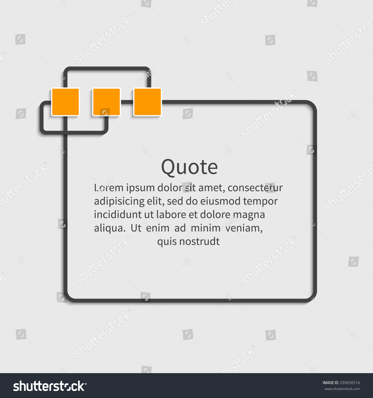quote blank template dialog box design stock vector  quote blank template dialog box design element for message information comment