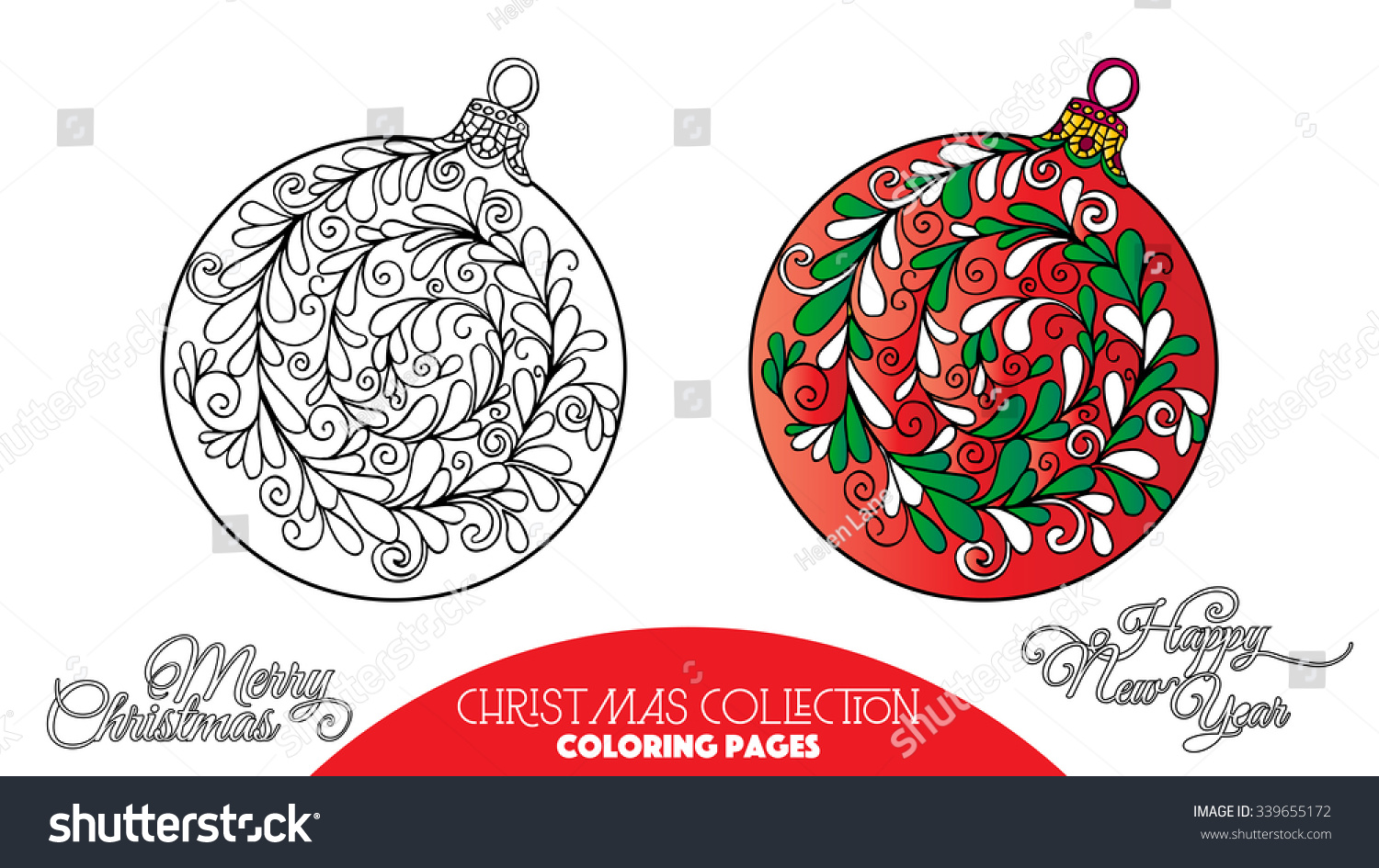 Coloring Book Adult Older Children Coloring Stock Vector 339655172 ...