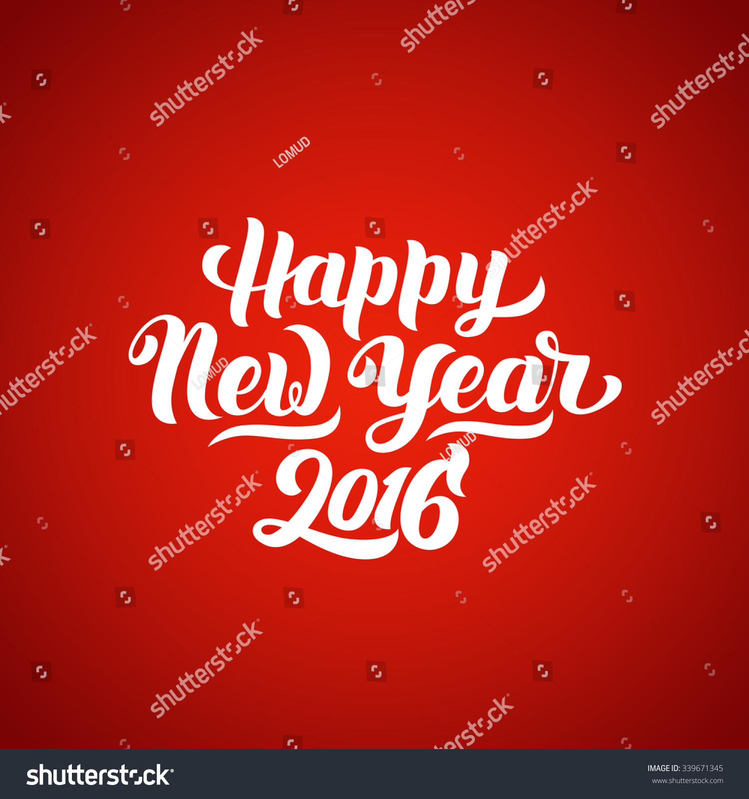 Happy New Year 2016 Handlettering Text Stock Vector