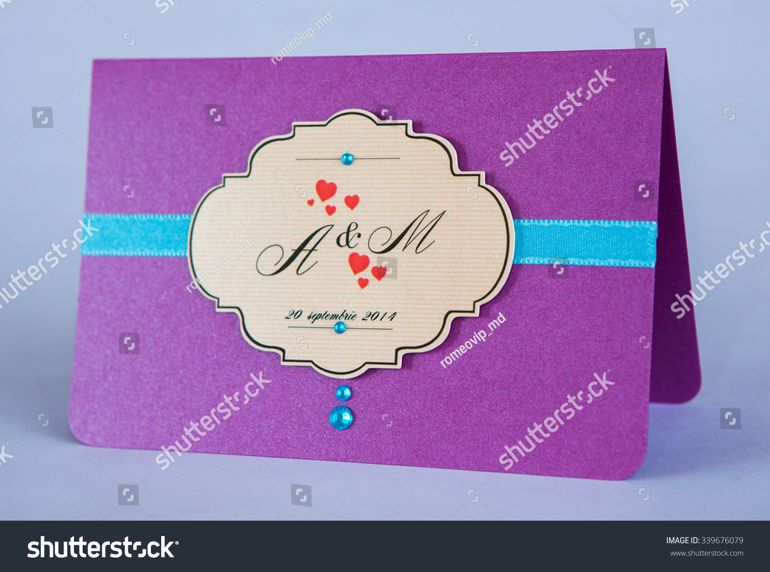 Wedding Invitation Card Handmade Wedding Invitation Stock Photo ...