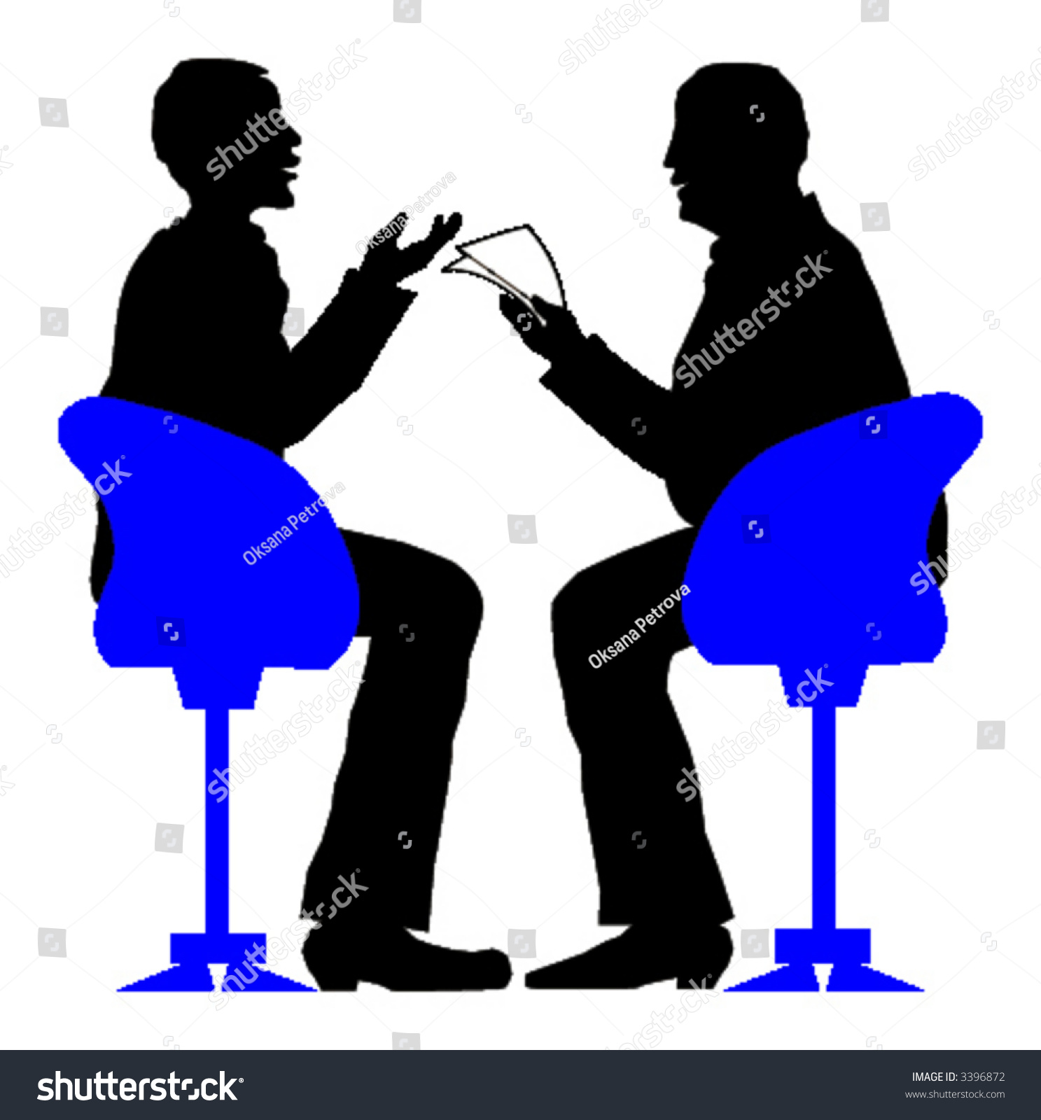 exciting job interview vector illustration stock vector  exciting job interview vector illustration