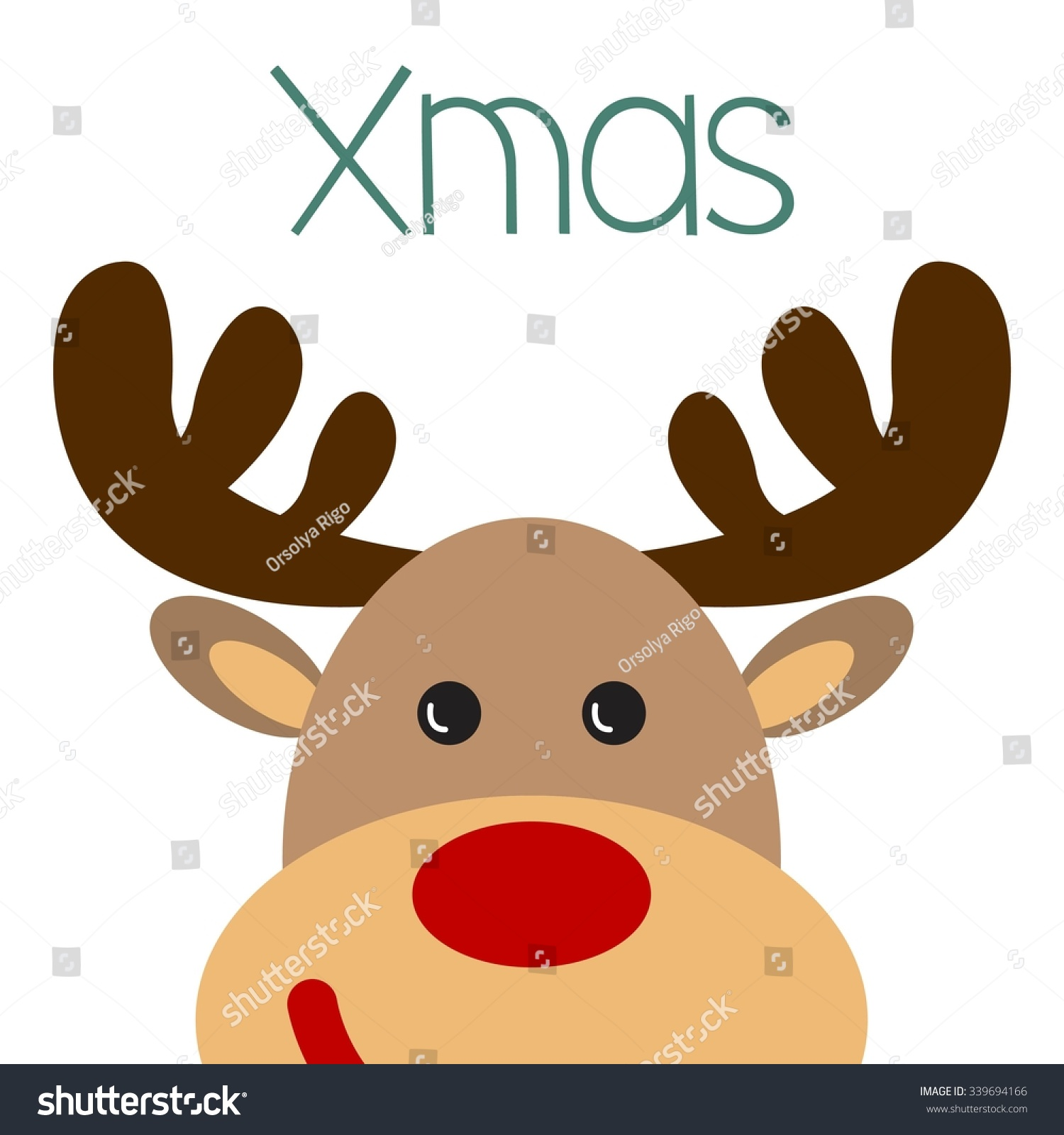 Uncategorized Raindeer Face christmas poster reindeer face stock vector with xmas inscription illustration