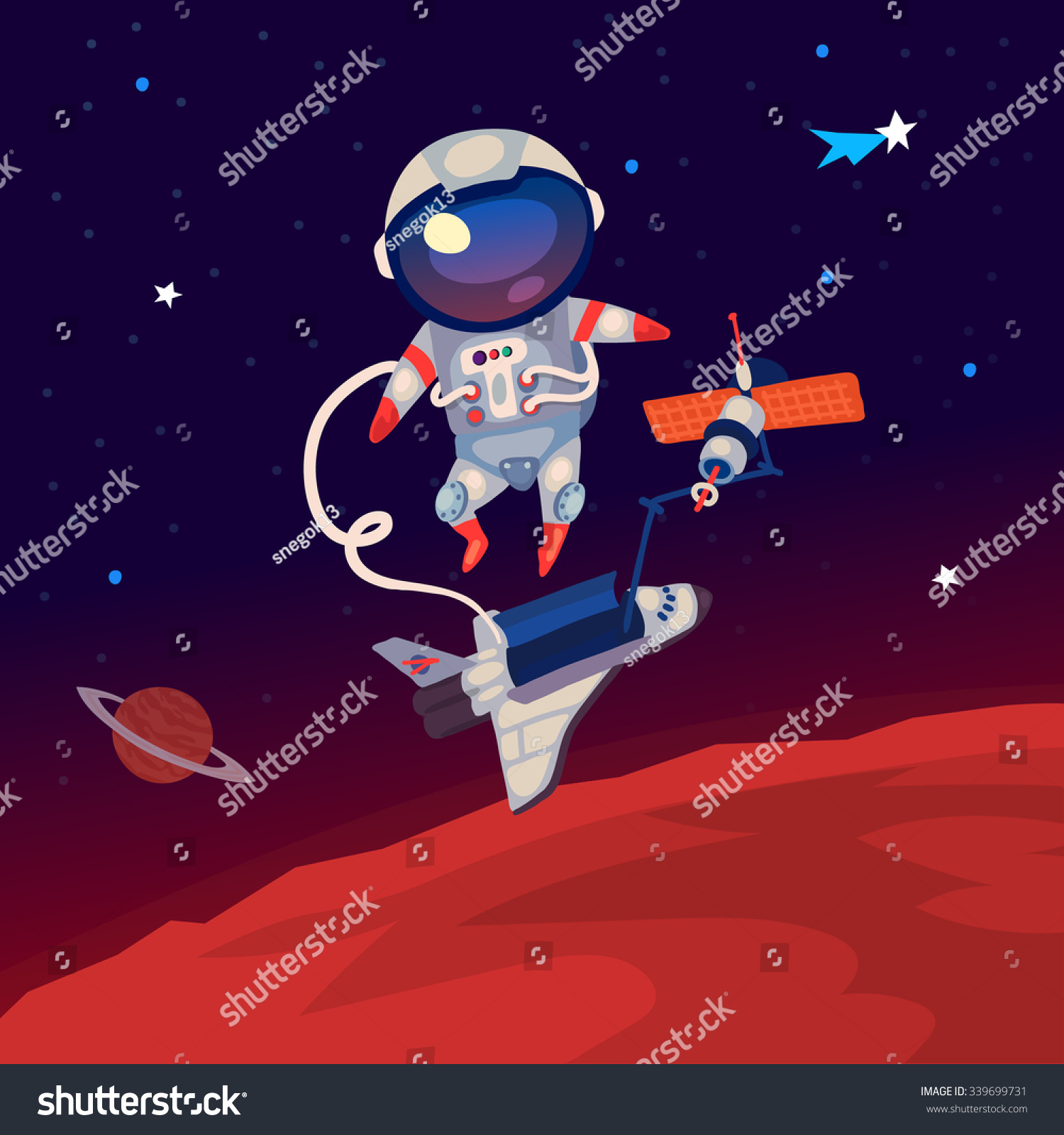 astronaut floating in space cartoon - photo #25
