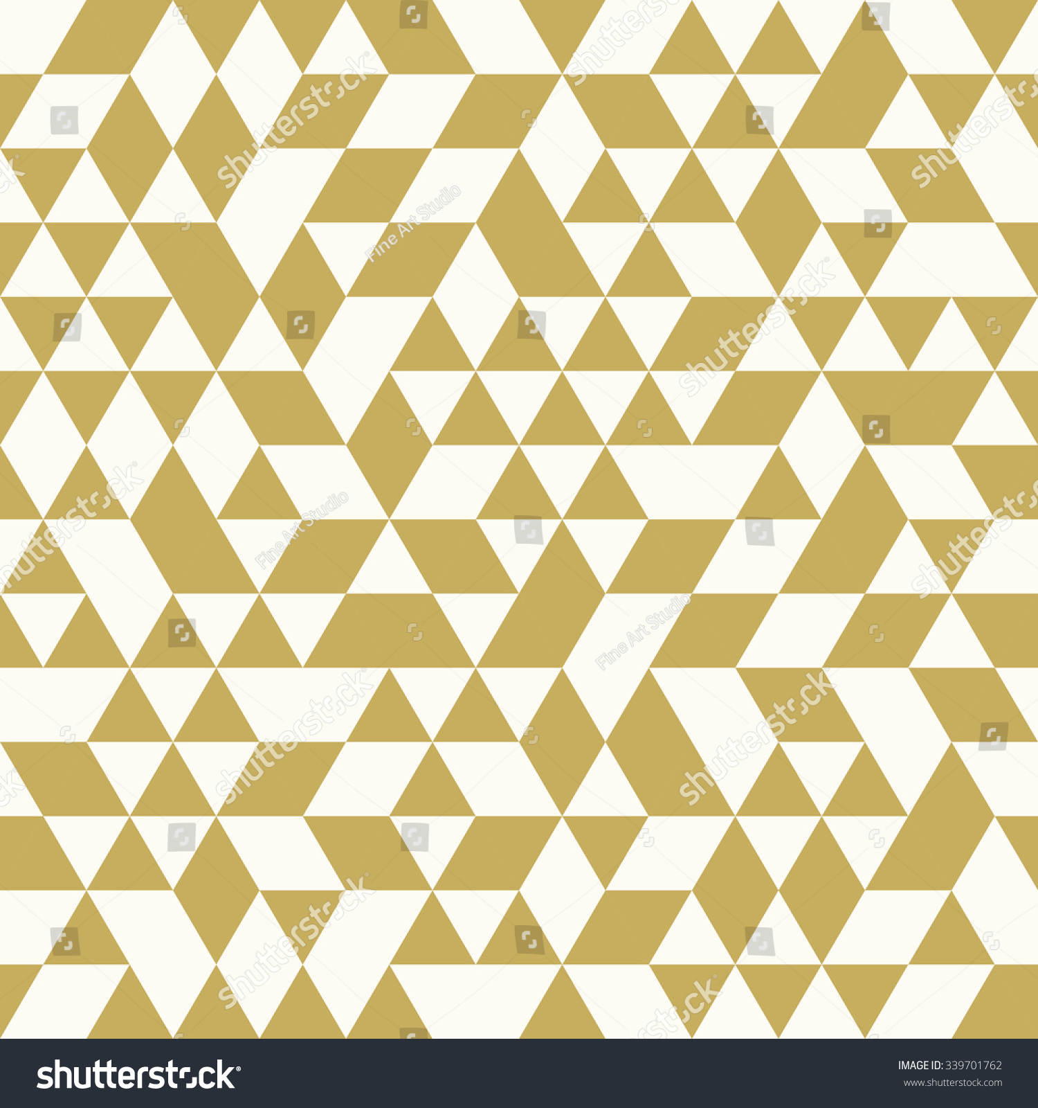 Geometric vector pattern white golden triangles stock for Object pool design pattern