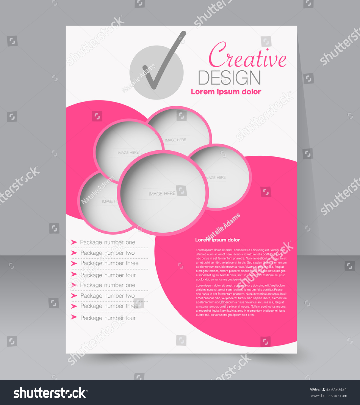 Flyer Template Design Business Brochure Poster Stock Vector Royalty