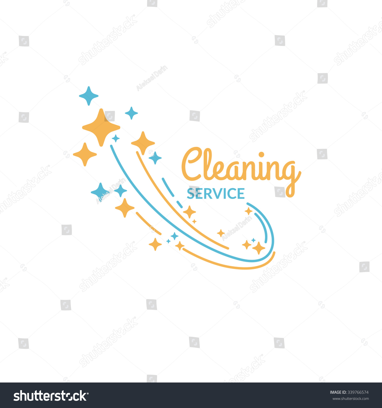 Cleaning Service Logo Company On Stock Vector