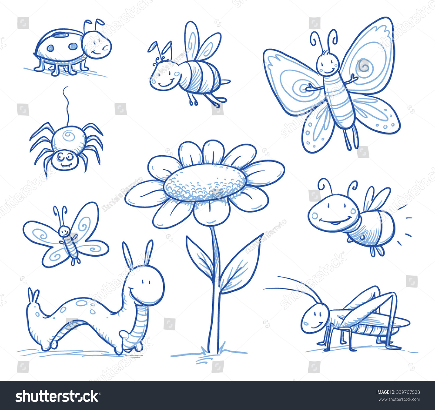 how to draw bee on flower