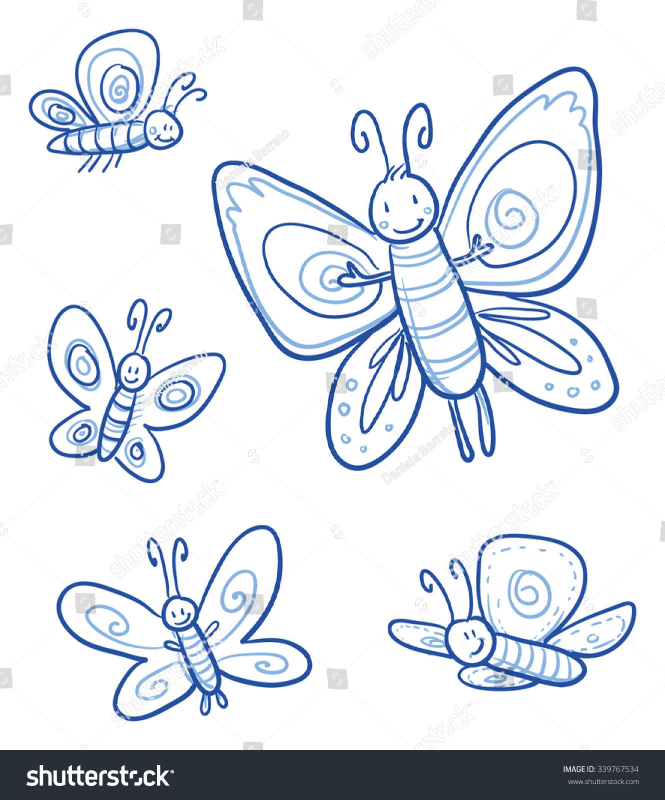 Uncategorized Images Of Butterflies For Children set different cute little cartoon butterflies stock vector of for children or baby shower cards hand
