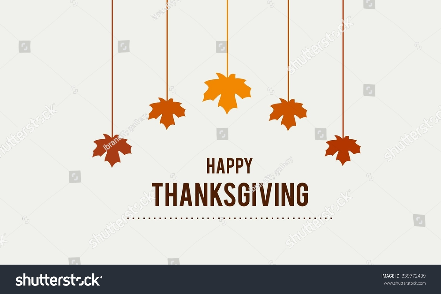 happy thanksgiving day typographic poster design stock vector 339772409 shutterstock. Black Bedroom Furniture Sets. Home Design Ideas